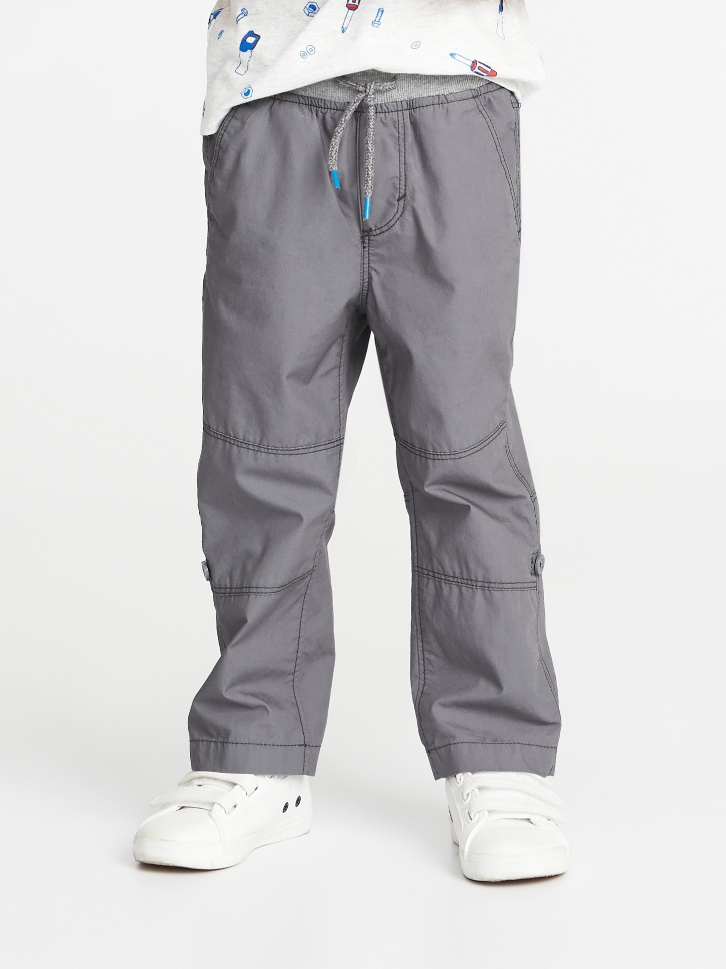 0eb589bed Rib-Waist Poplin Roll-Up Pants for Toddler Boys | Old Navy