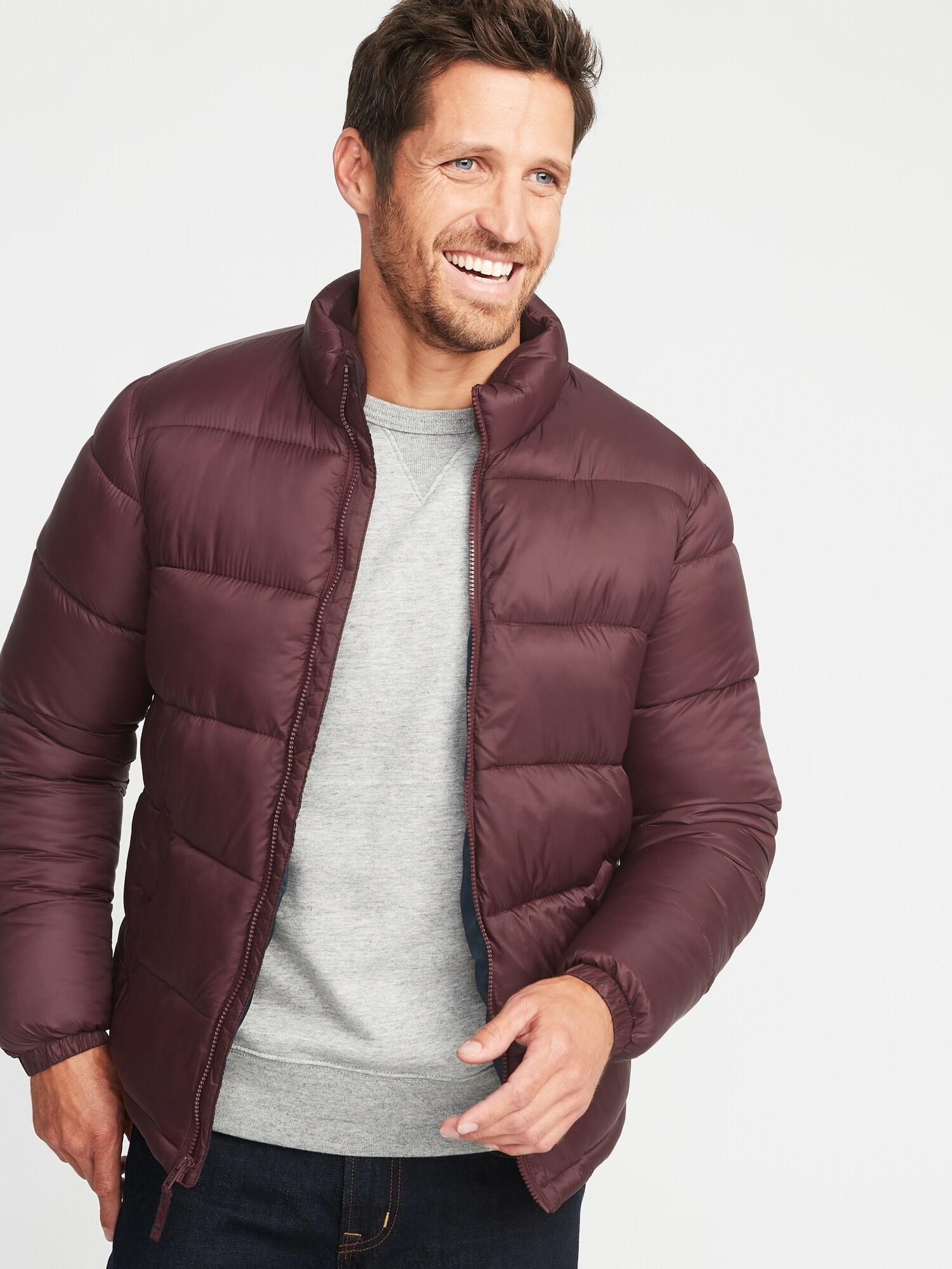 Nylon Frost Free Jacket For Men Old Navy Knit Hoodie Fingerless Maroon
