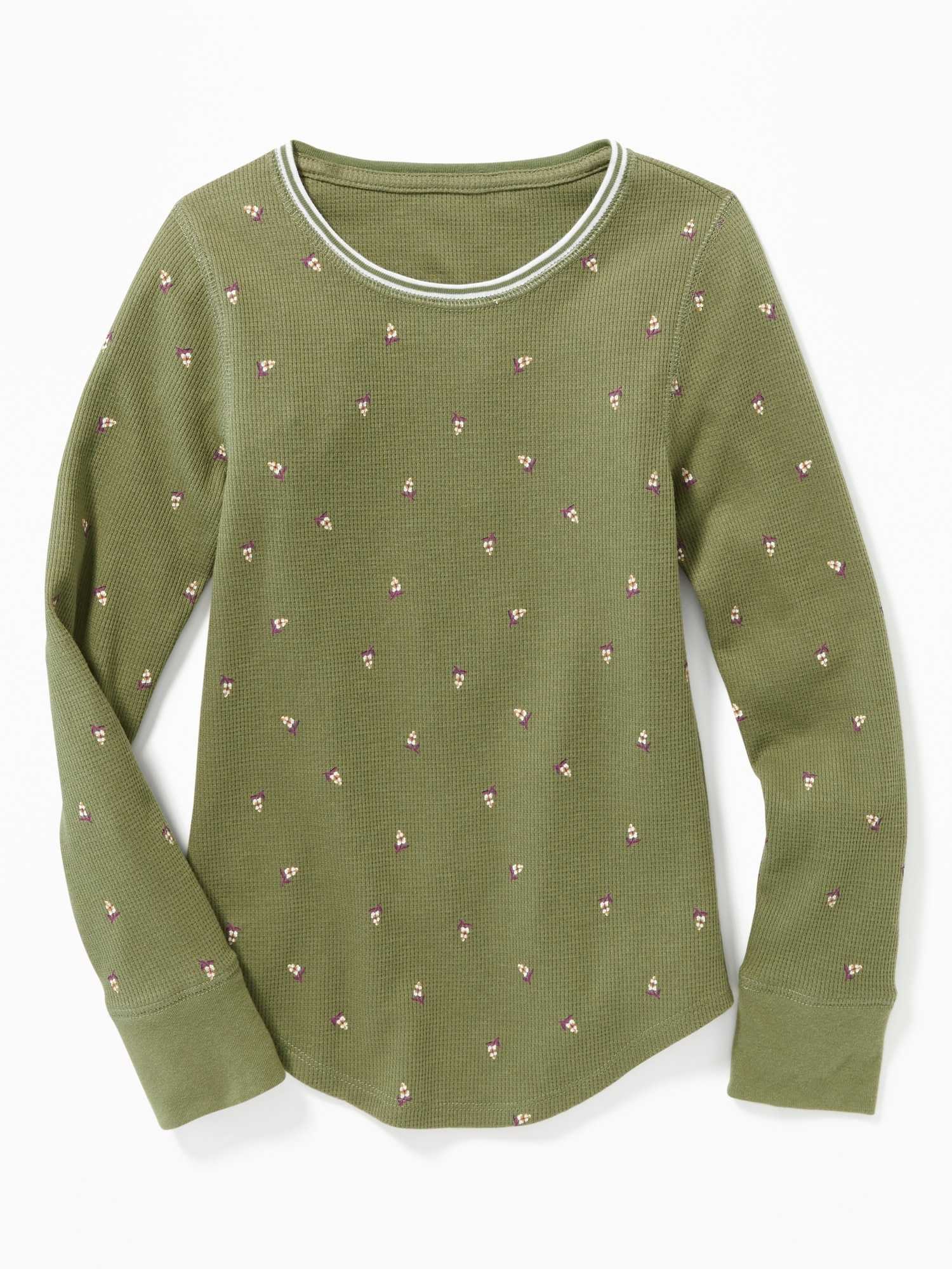 e4afcef7 Thermal-Knit Scoop-Neck Tee for Girls | Old Navy