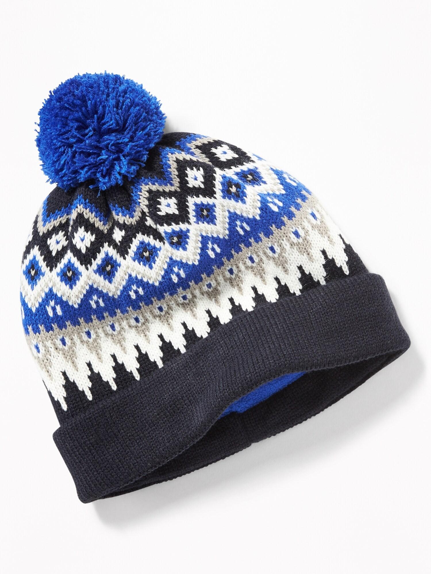 Sweater-Knit Pom-Pom Beanie for Boys  621e216c4b35