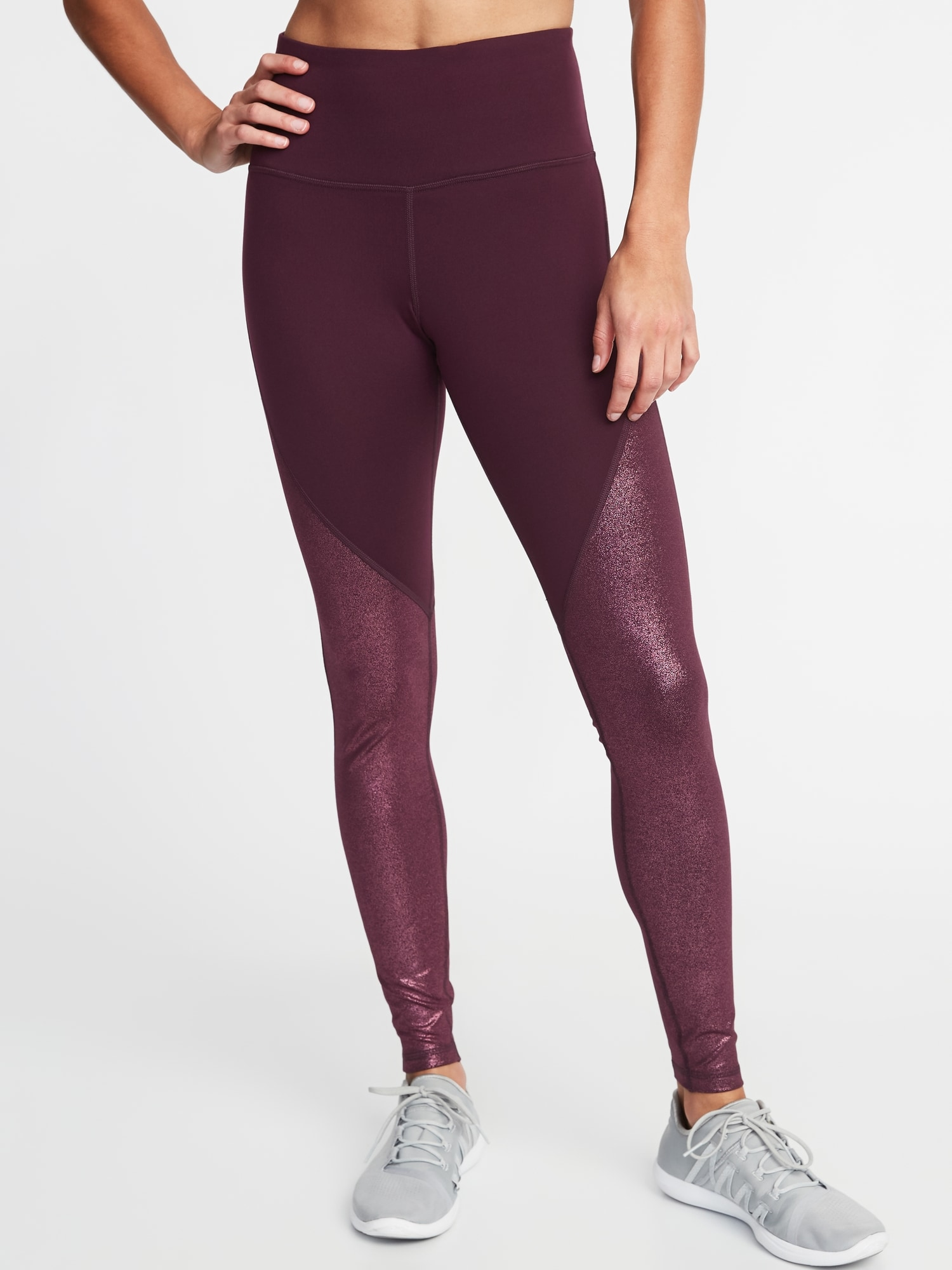 626b2a0ec4 High-Rise Shimmer Elevate Compression Full-Length Leggings for Women ...