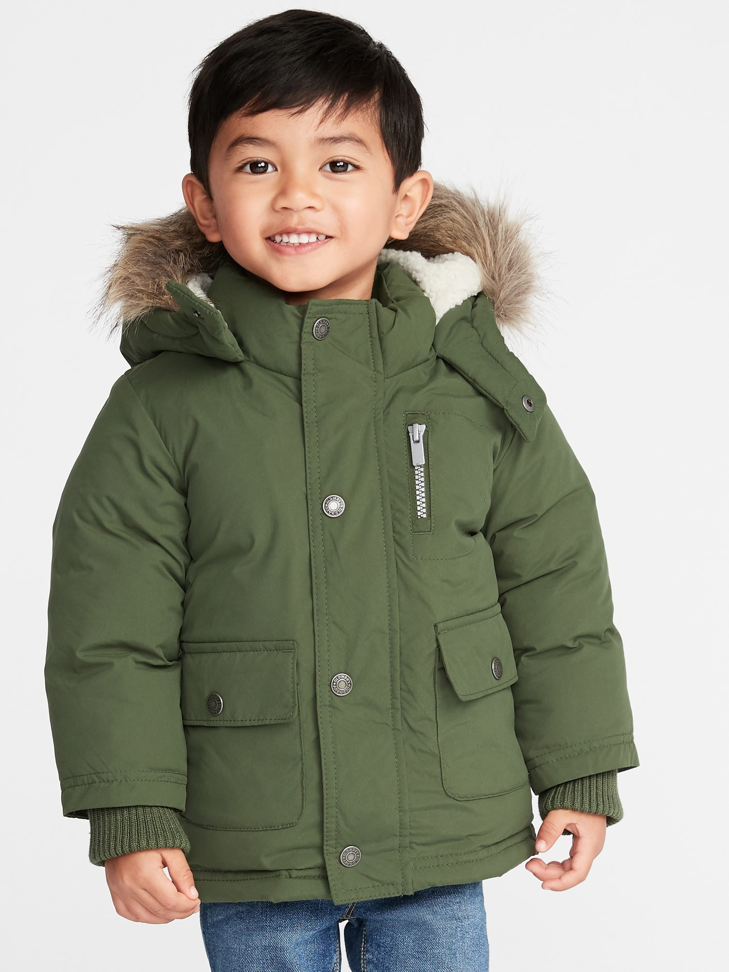 07faf282e Water-Resistant Hooded Snow Jacket for Toddler Boys