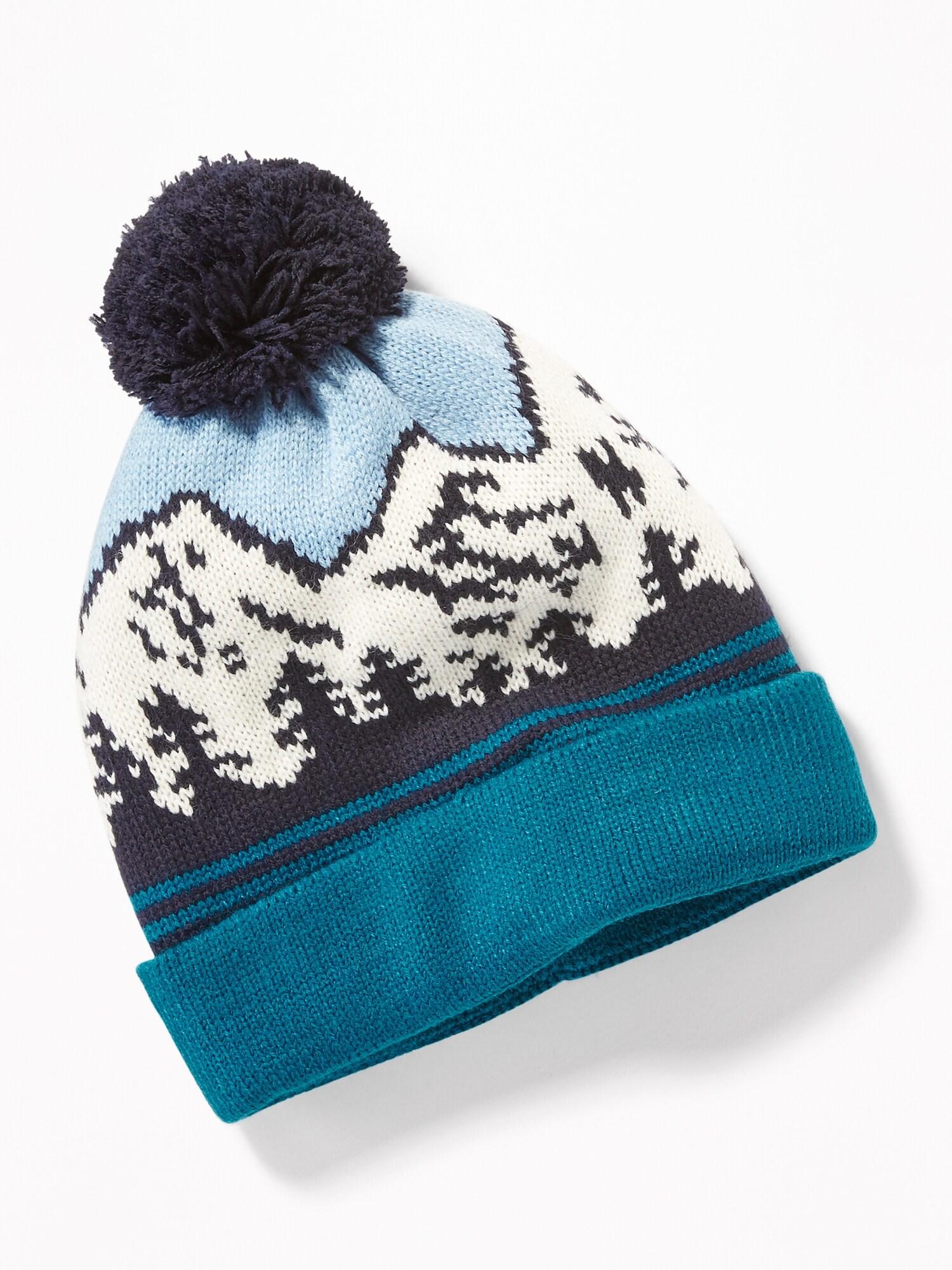 35960f550cc Sweater-Knit Pom-Pom Beanie for Boys