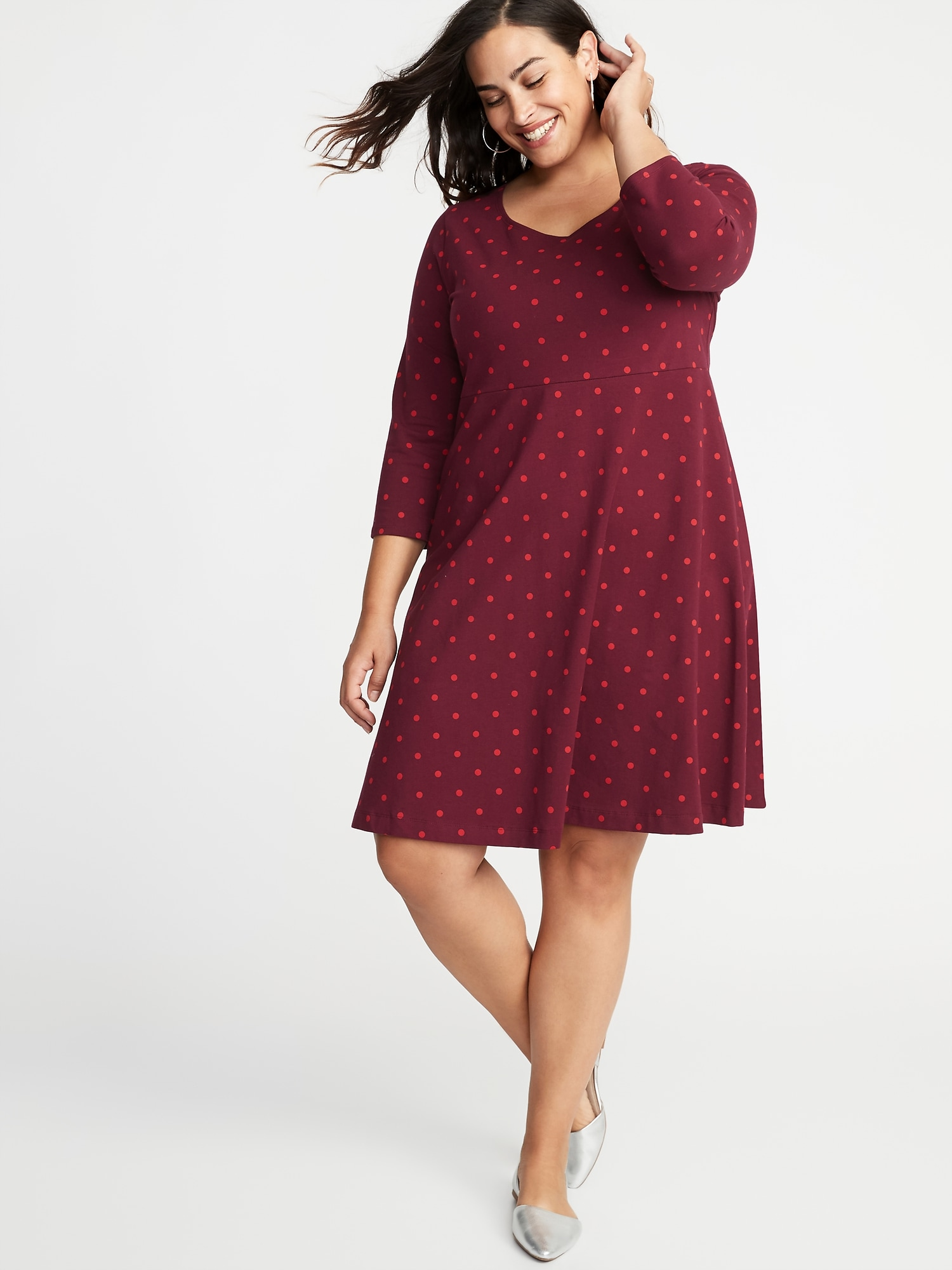 30a90843efe Fit   Flare Plus-Size Scoop-Neck Dress