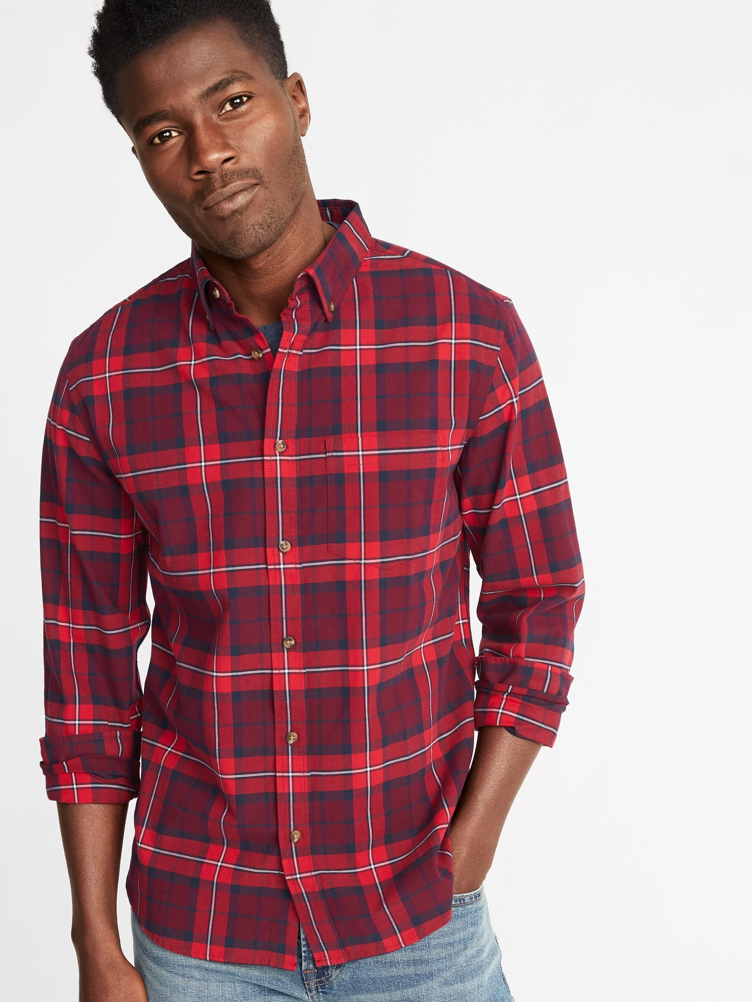 9664760ab39c4 Slim-Fit Built-In Flex Everyday Oxford Shirt For Men