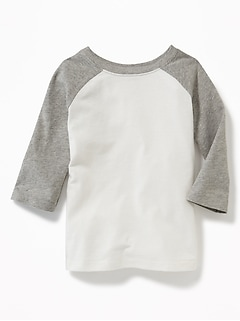 Unisex Raglan-Sleeve Baseball Tee for Toddler