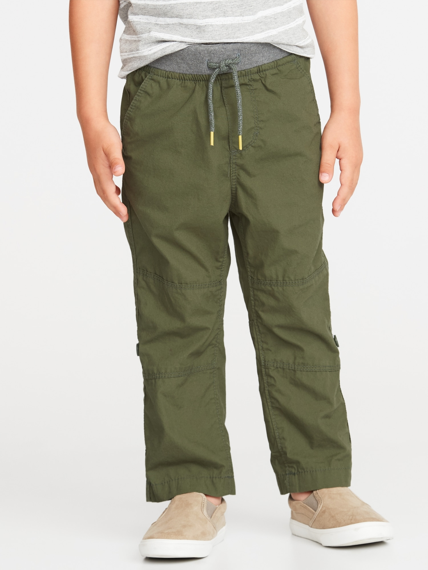 41804d070d Rib-Waist Poplin Roll-Up Pants for Toddler Boys | Old Navy