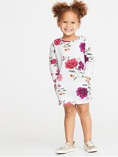Robe droite en molleton pour toute-petite fille
