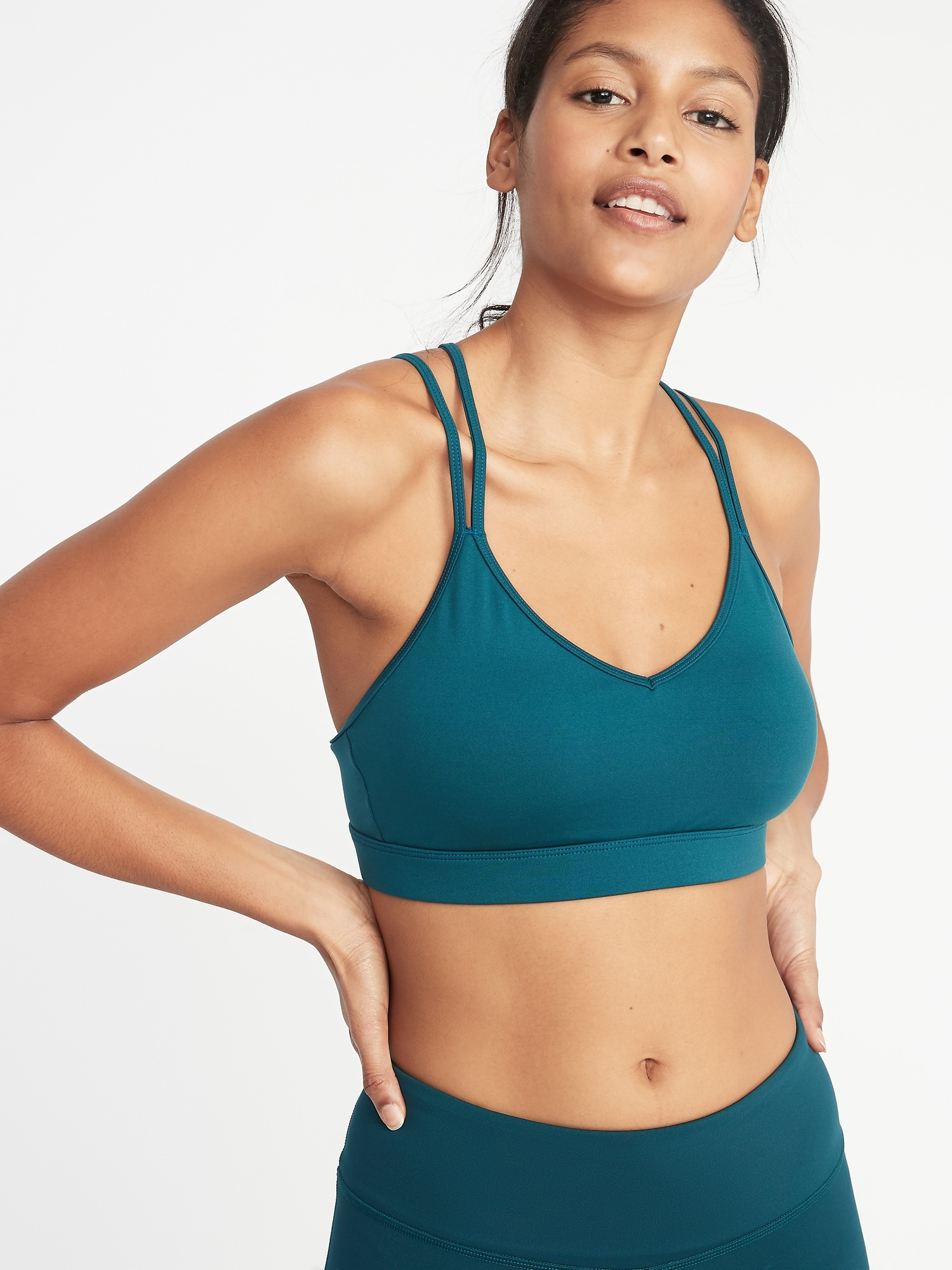 9ae690bcbb Light Support Strappy Sports Bra for Women