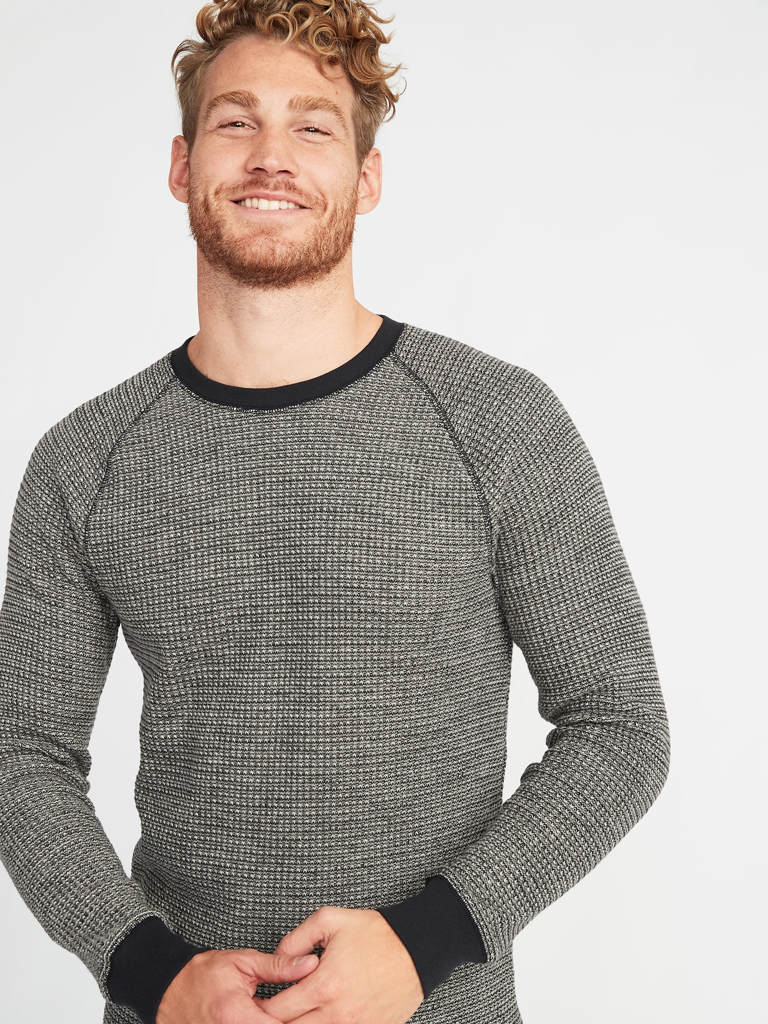 48cd2e08 Chunky-Textured Thermal-Knit Tee for Men | Old Navy