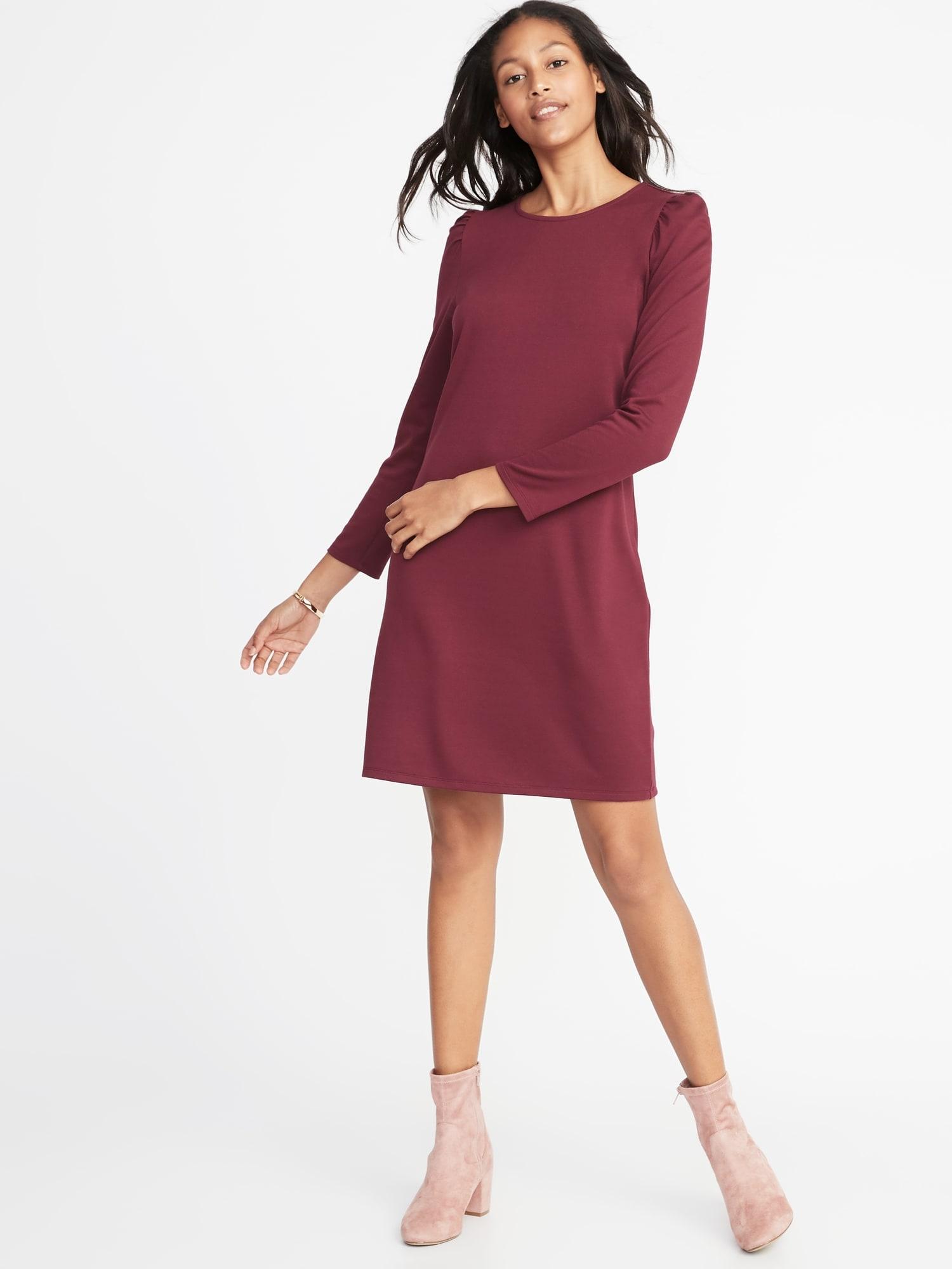 3cc49c765d89 Ponte-Knit Shift Dress for Women
