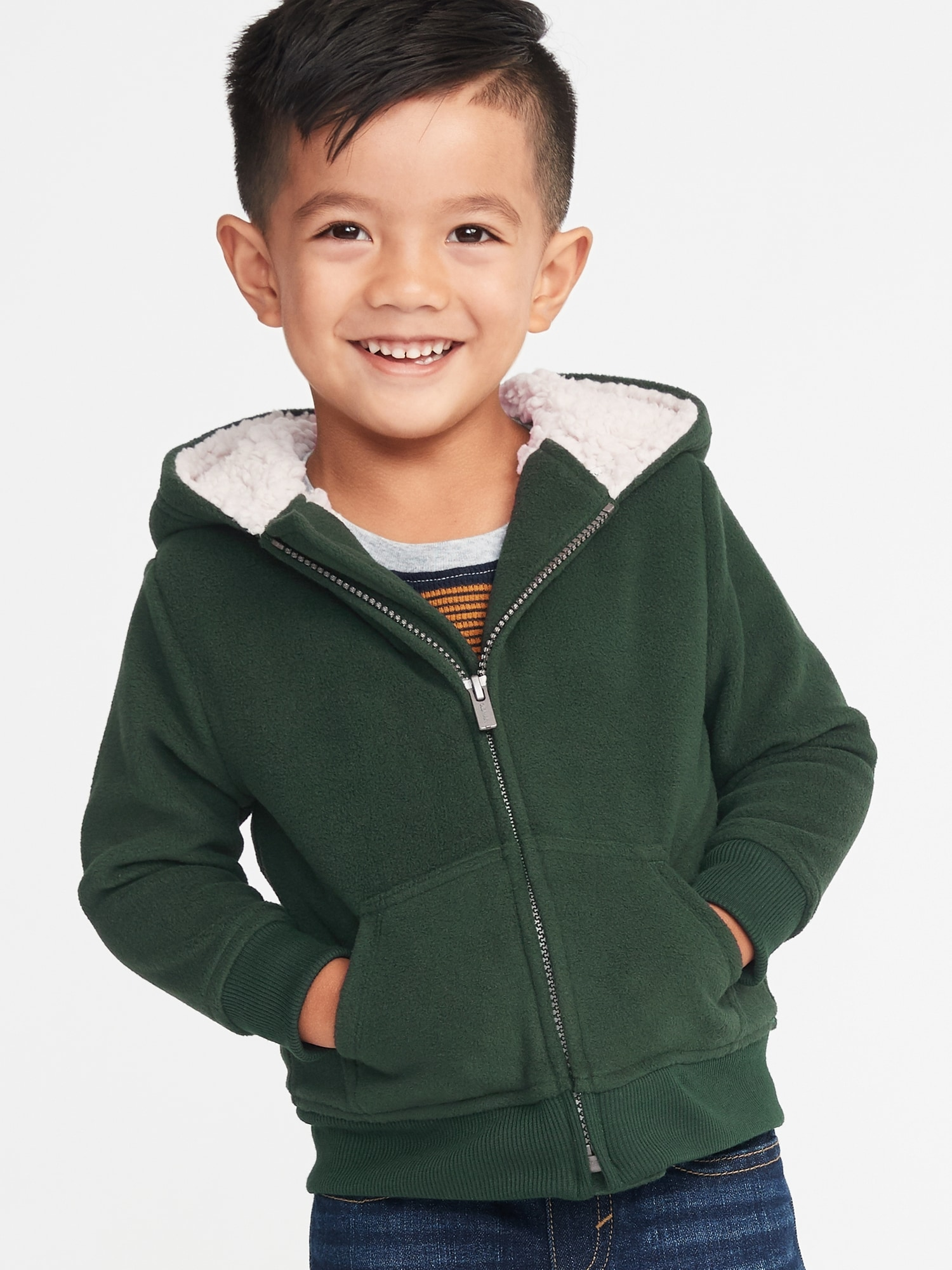 9af3cafa9 Sherpa-Lined Micro Performance Fleece Zip Hoodie for Toddler Boys ...