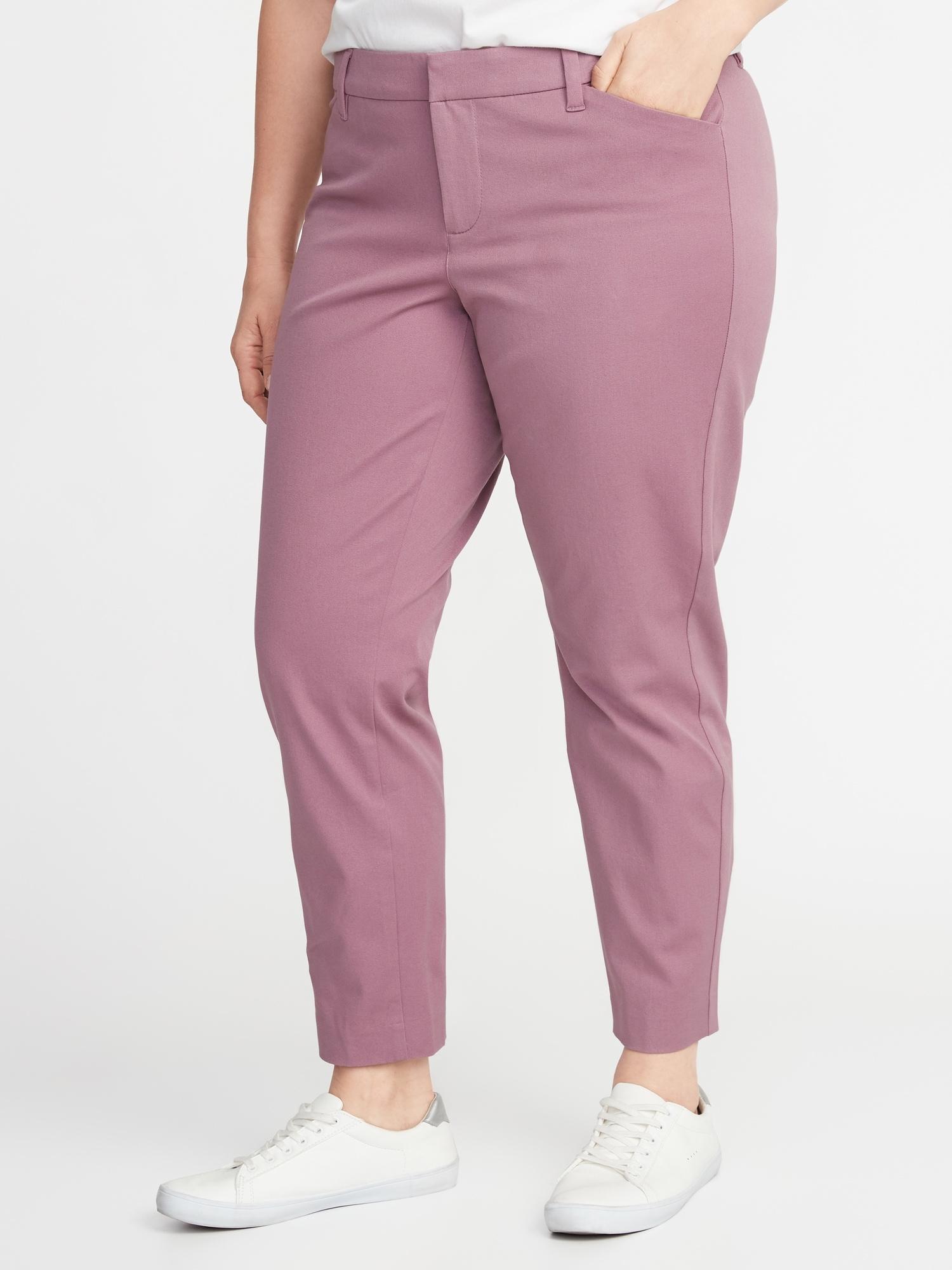51bc2fcd2d4 Mid-Rise Secret-Slim Pockets Plus-Size Pixie Ankle Pants