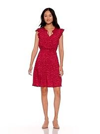c00e7284aac Waist-Defined Flutter-Sleeve Dress for Women