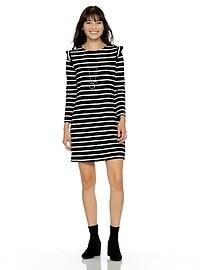25195027c2e3 Ruffle-Trim Ponte-Knit Shift Dress for Women