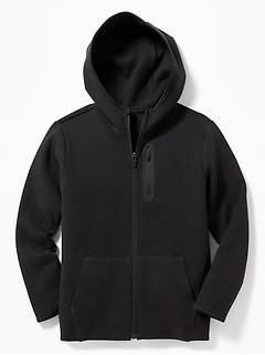 Dynamic Fleece 4-Way-Stretch Zip Hoodie for Boys