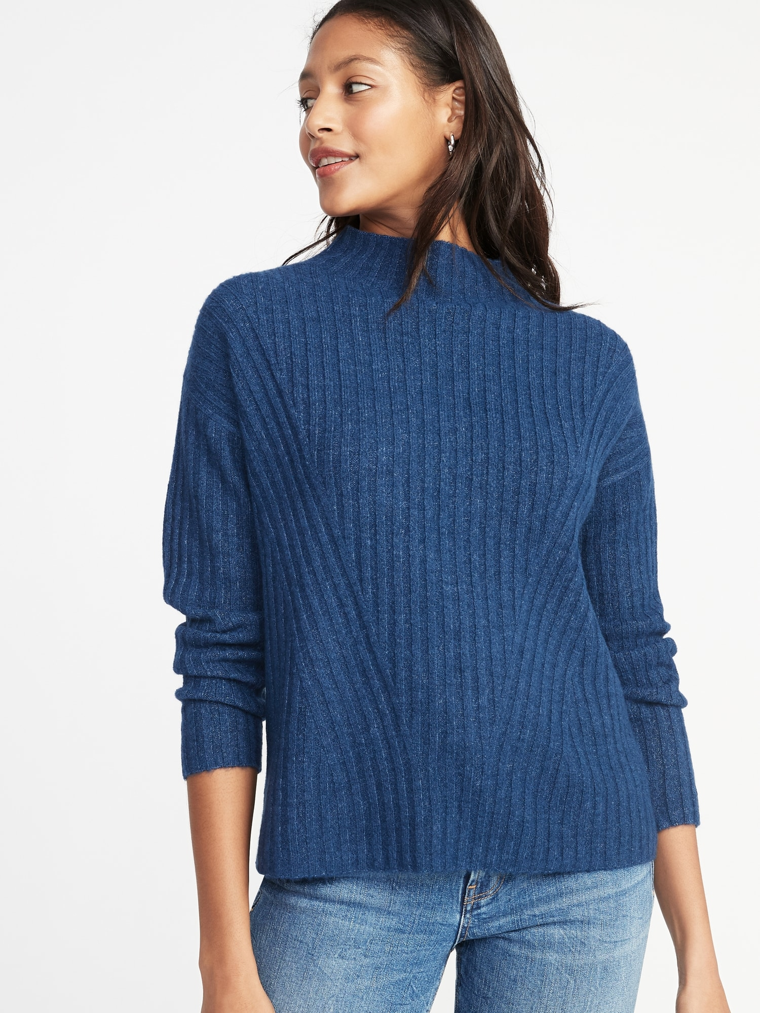 9a5784a5b1411 Mock-Neck Rib-Knit Sweater for Women | Old Navy