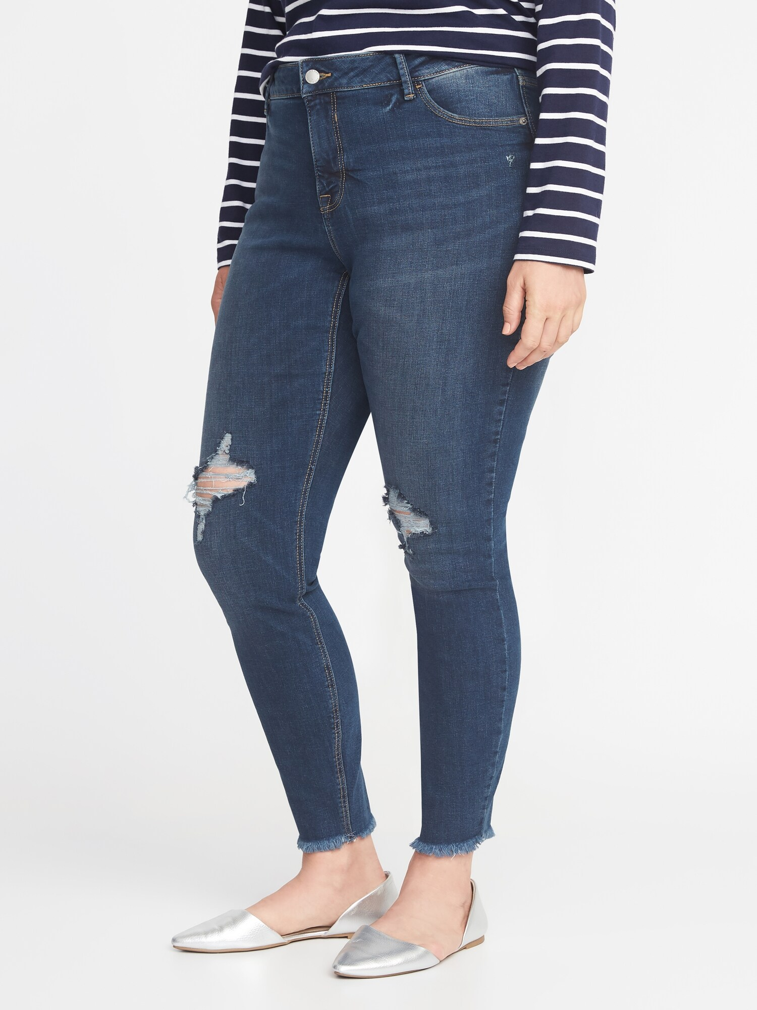 f266c93230a High-Rise Secret-Slim Pockets Plus-Size Raw-Edge Rockstar Jeans ...