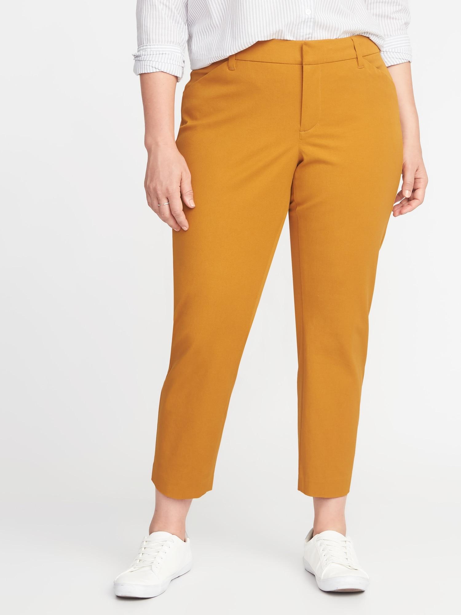 277ff19ef7c46 Mid-Rise Secret-Slim Pockets Plus-Size Pixie Ankle Pants