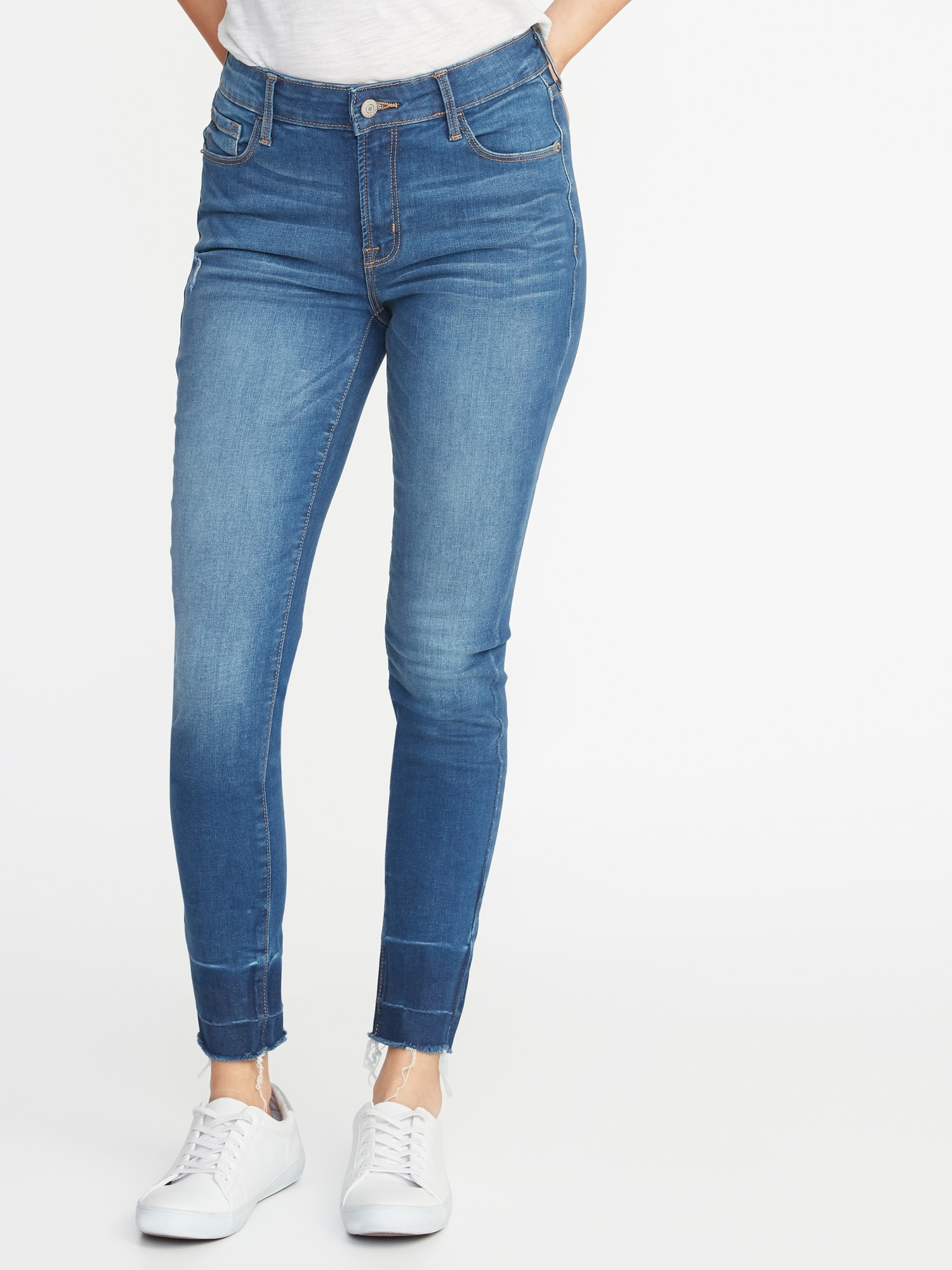 c765fe3f59f Mid-Rise Built-In Sculpt Released-Hem Rockstar Jeans for Women