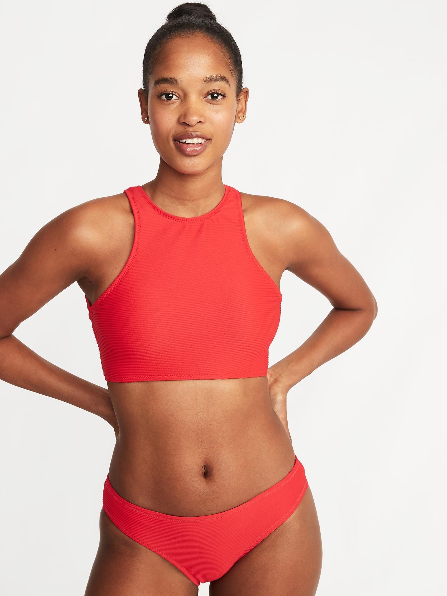 61c7152426 Textured High-Neck Swim Top for Women