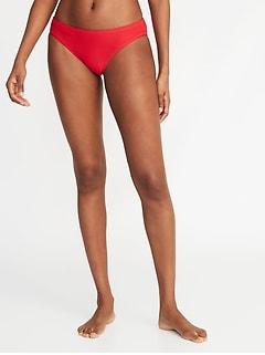 Culotte de bikini à rayures texturées pour femme