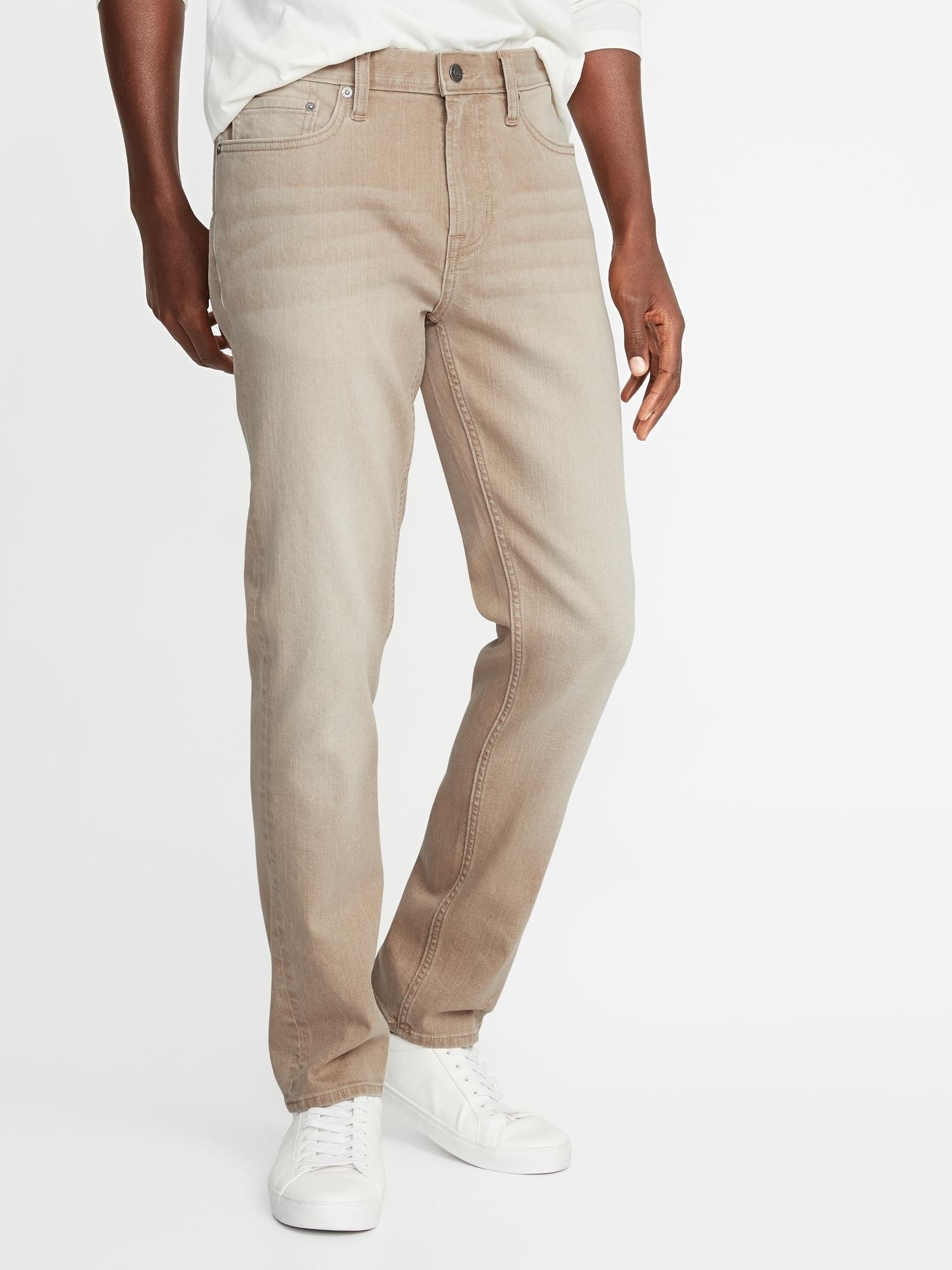 5e2fb804 Slim Built-In Flex Khaki-Wash Jeans for Men | Old Navy