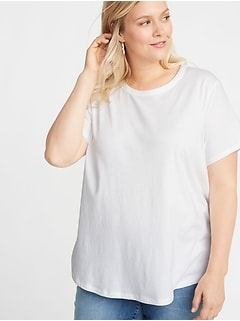 EveryWear Plus-Size Slub-Knit Tee