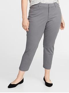 Mid-Rise Secret-Slim Pockets Plus-Size Pixie Chinos