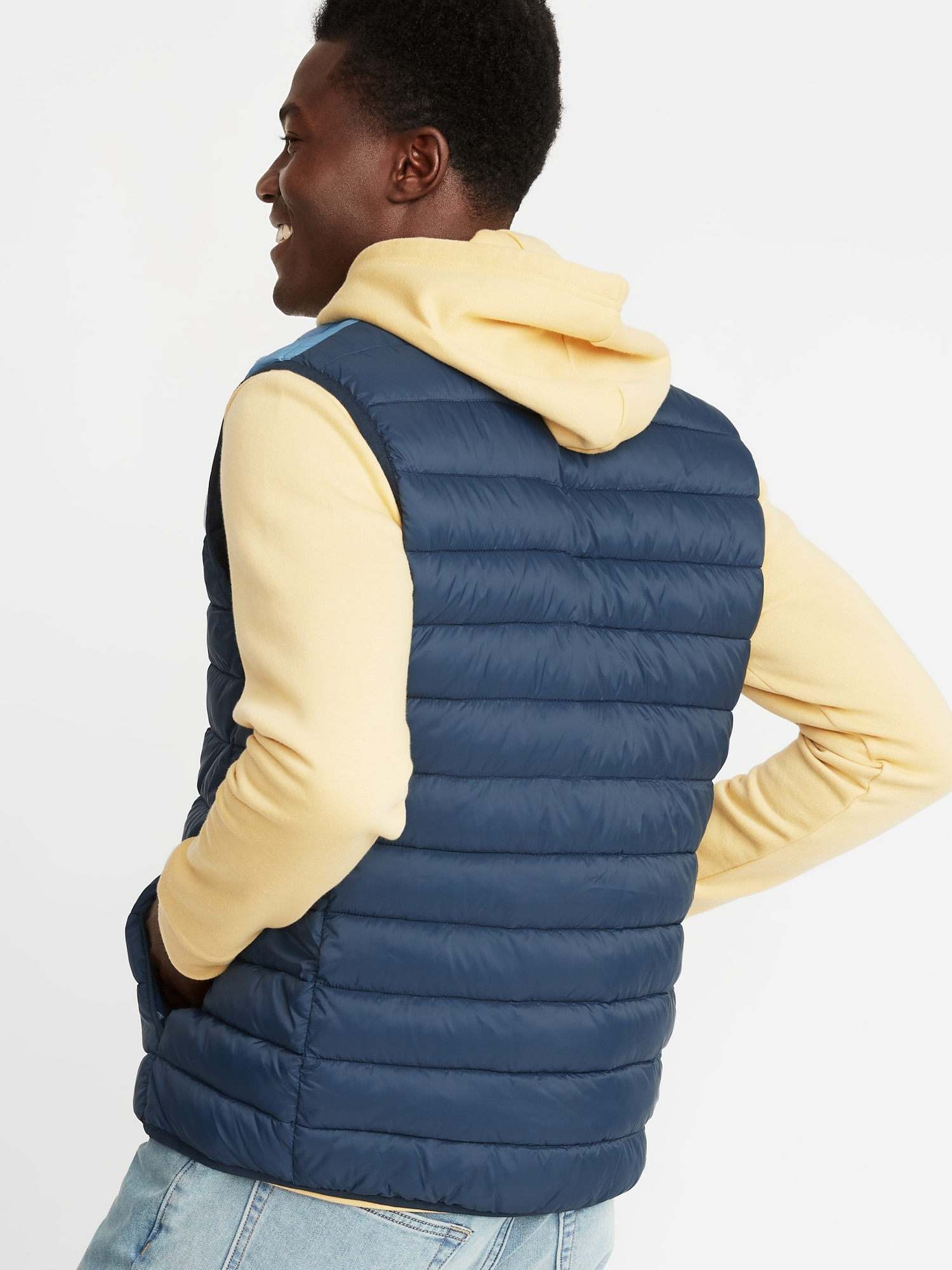 dd3c1c1dea5 Water-Resistant Packable Color-Blocked Quilted Vest for Men