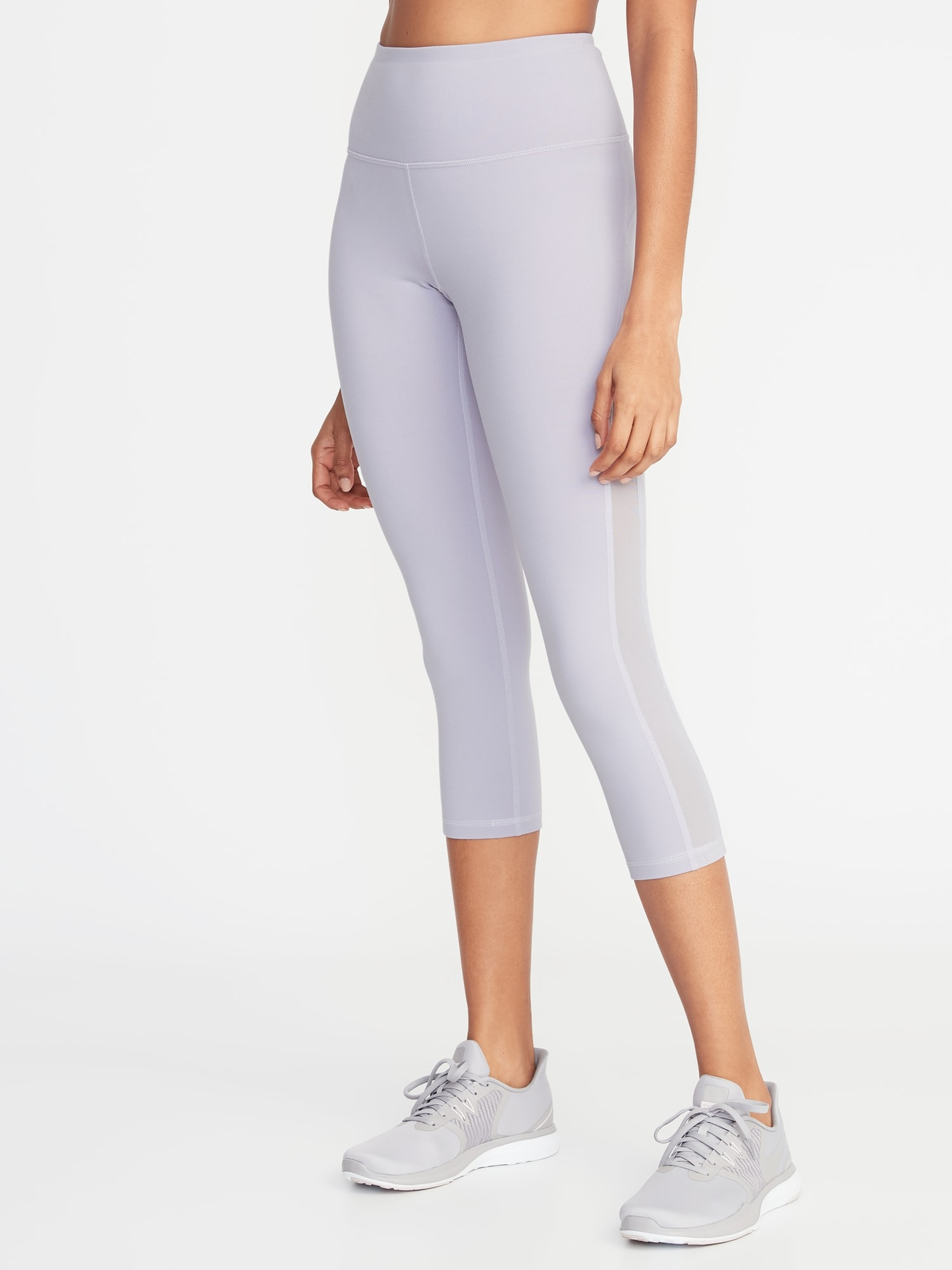 2909b6284c High-Rise Elevate Side-Mesh Compression Crops for Women | Old Navy