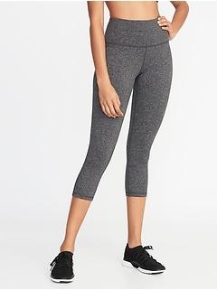 Pantalon de compression rehaussant trois quarts à taille haute en tissu brossé pour femme