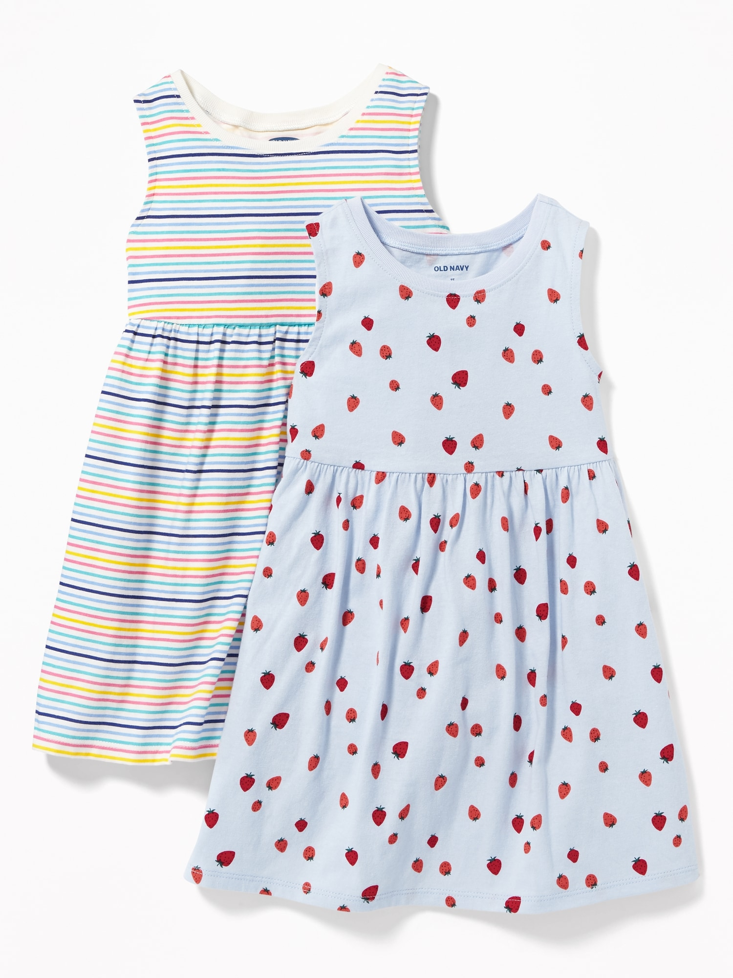 4c49b01eb 2-Pack Printed Sleeveless Fit & Flare Dress for Toddler Girls | Old Navy