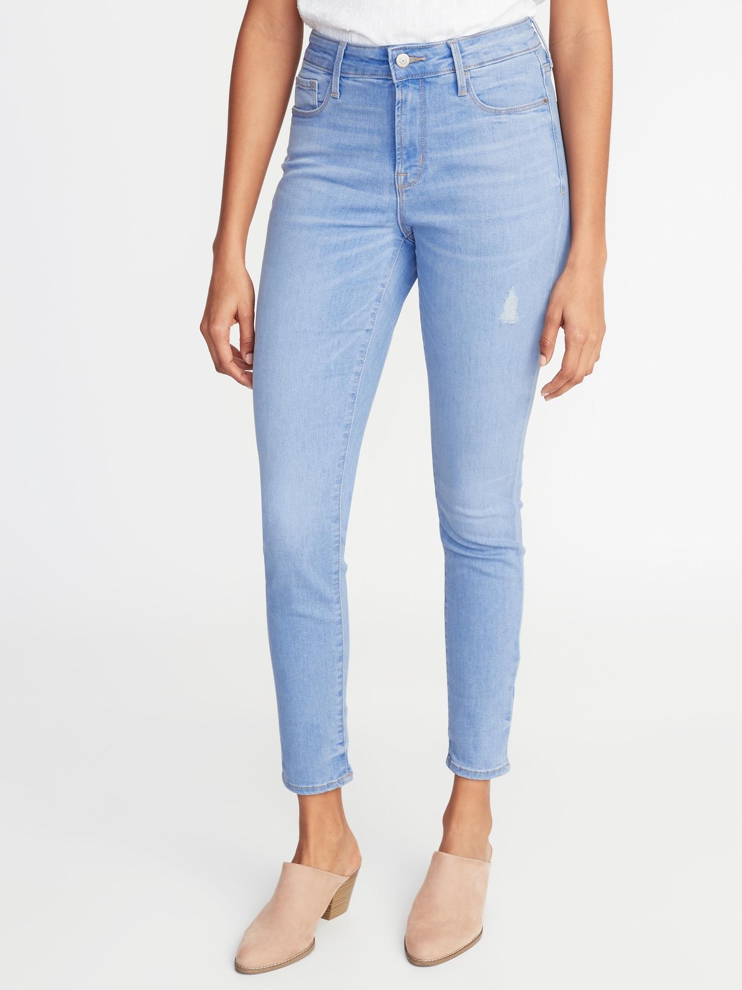 5033cf6aa8f High-Rise Secret-Slim Pockets Distressed Rockstar Super Skinny Jeans for  Women