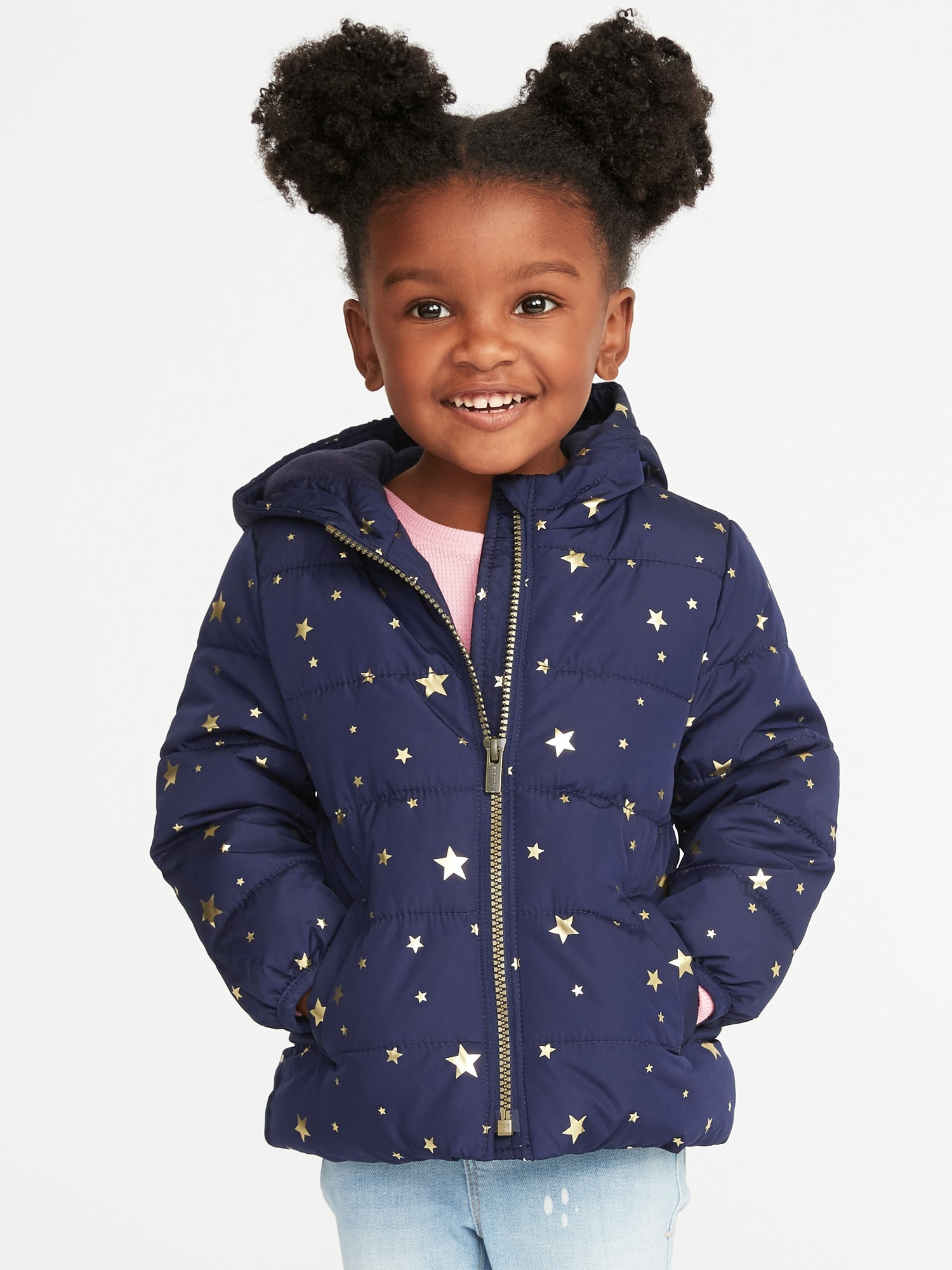 1c4a283a43a3 Frost-Free Hooded Puffer Jacket for Toddler Girls