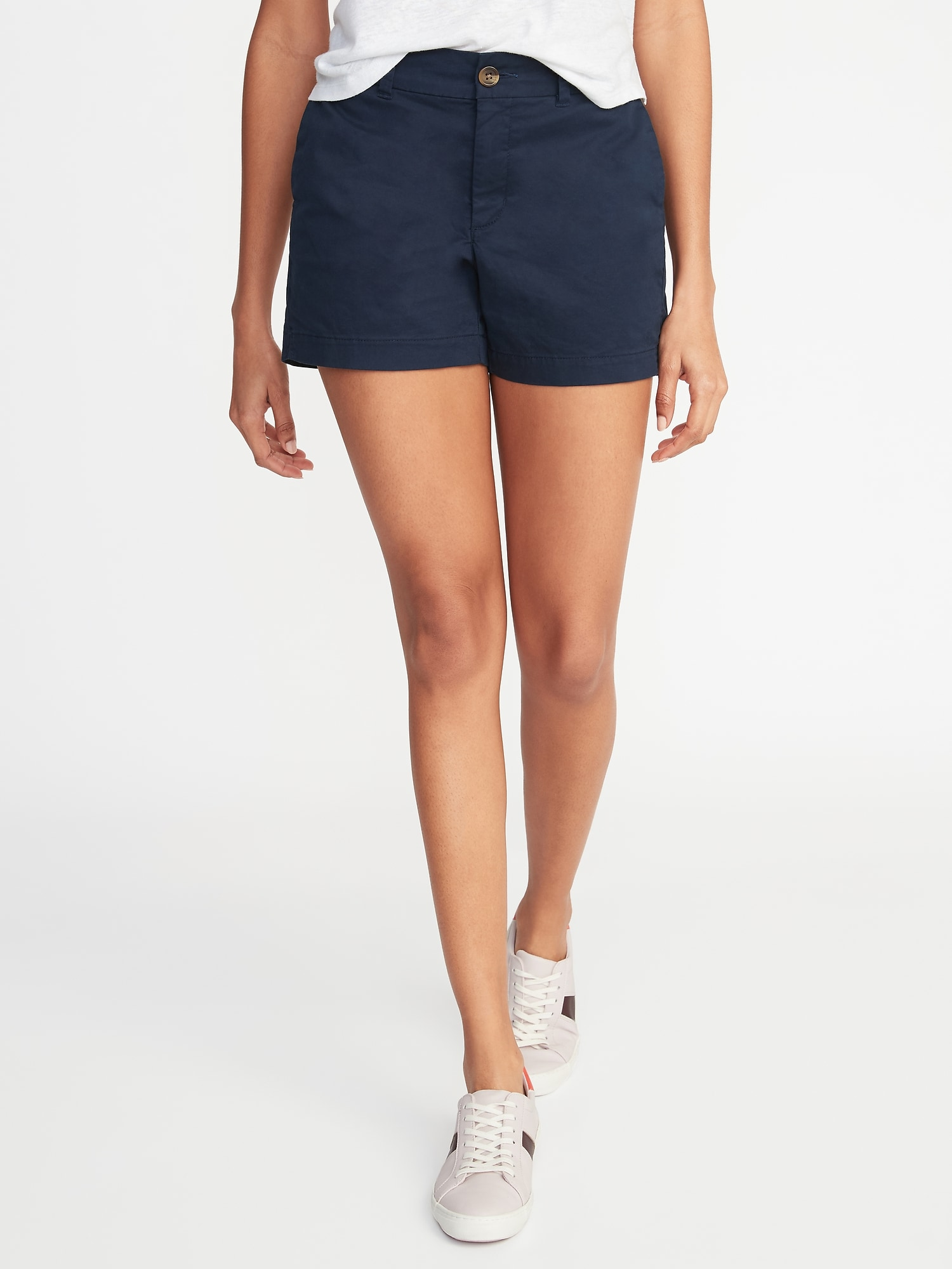 05b3e7c3ba Mid-Rise Twill Everyday Shorts for Women -- 5-inch inseam | Old Navy