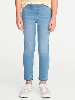 Let-Down Hem Pull-On Crop Skinny Jeans for Girls