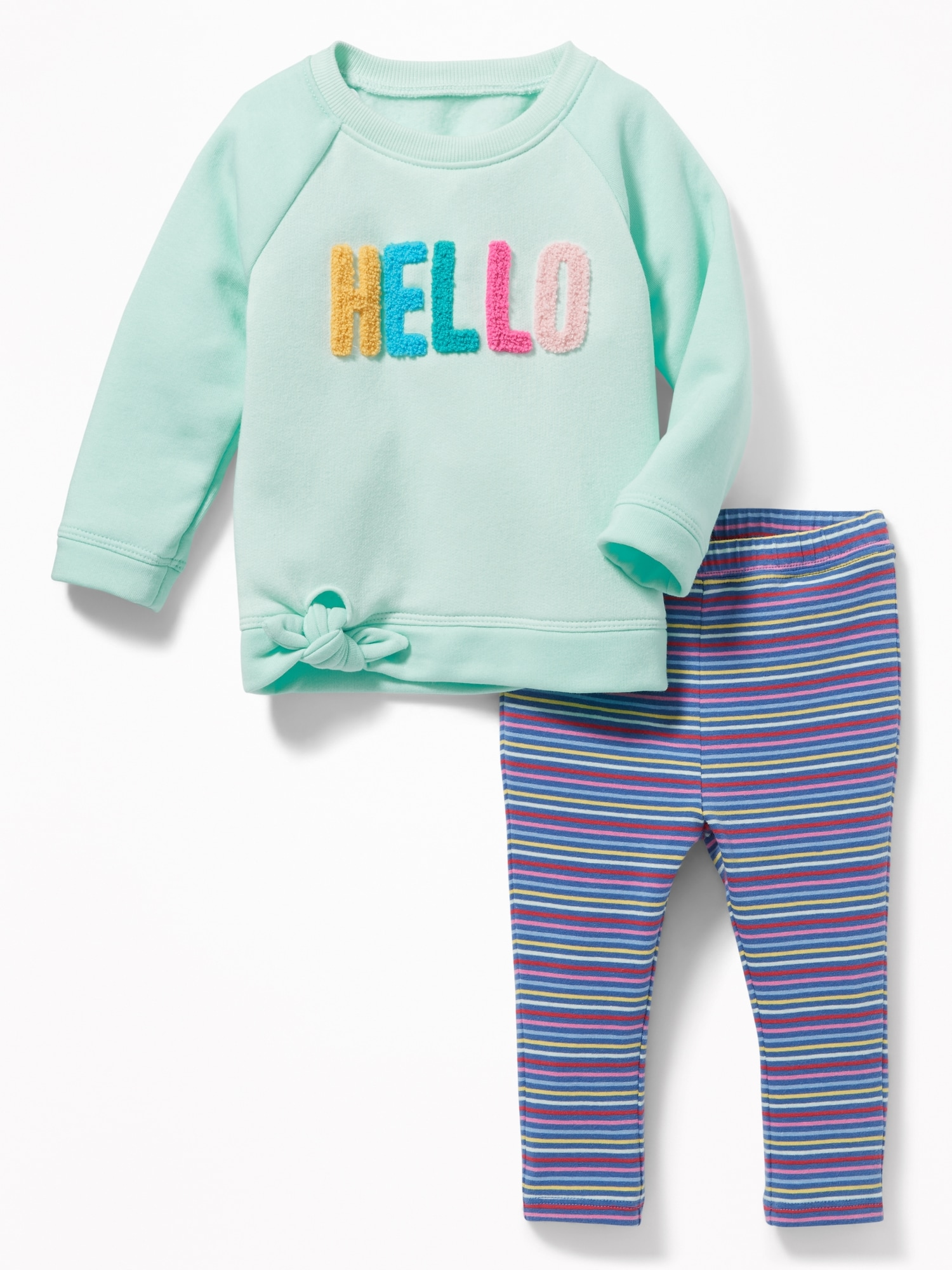 4bc8f72ef Tunic Sweatshirt   Leggings Set for Baby