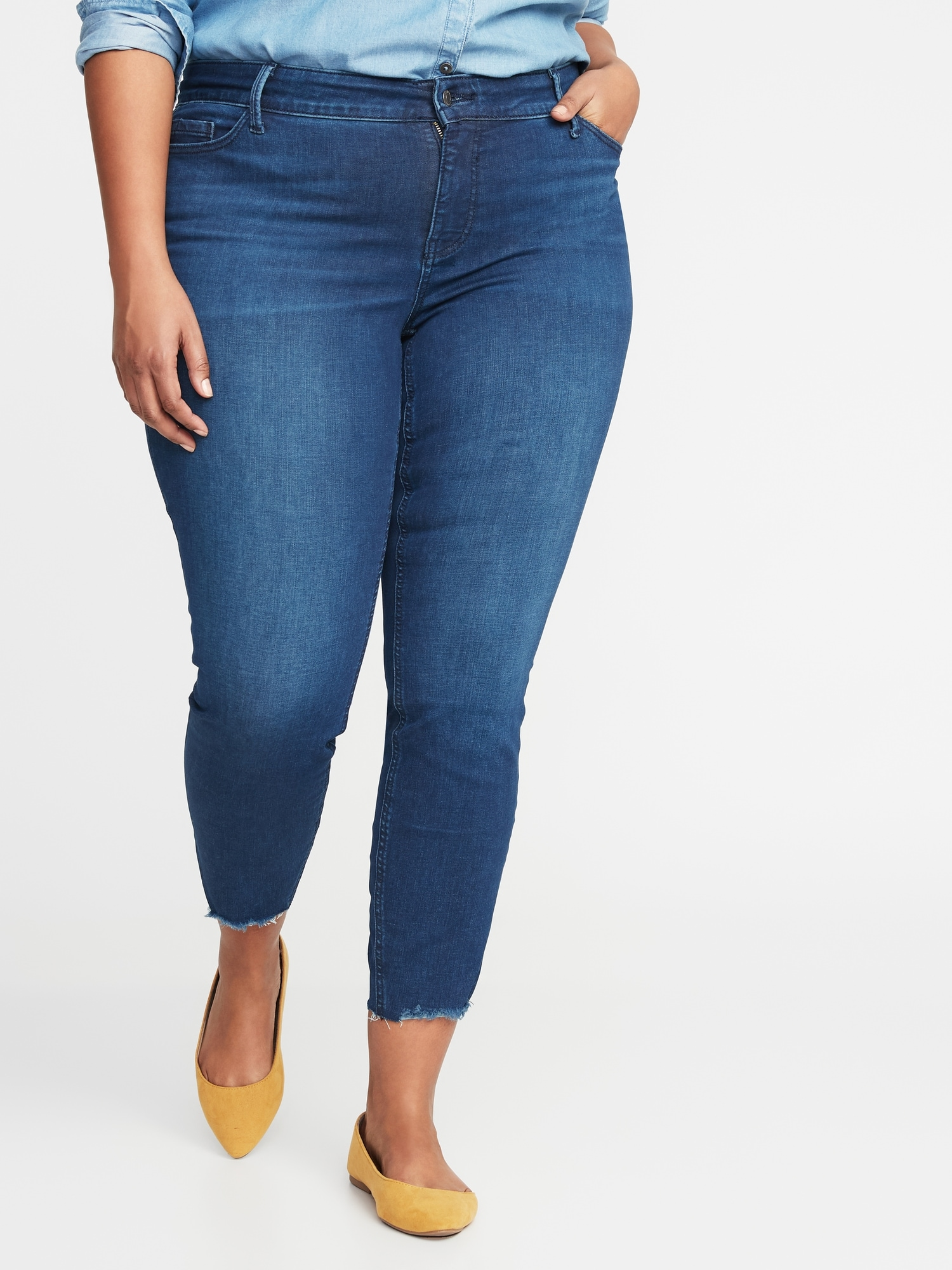06b251a5cd21ac High-Rise Secret-Slim Pockets Rockstar Super Skinny Plus-Size Jeans ...