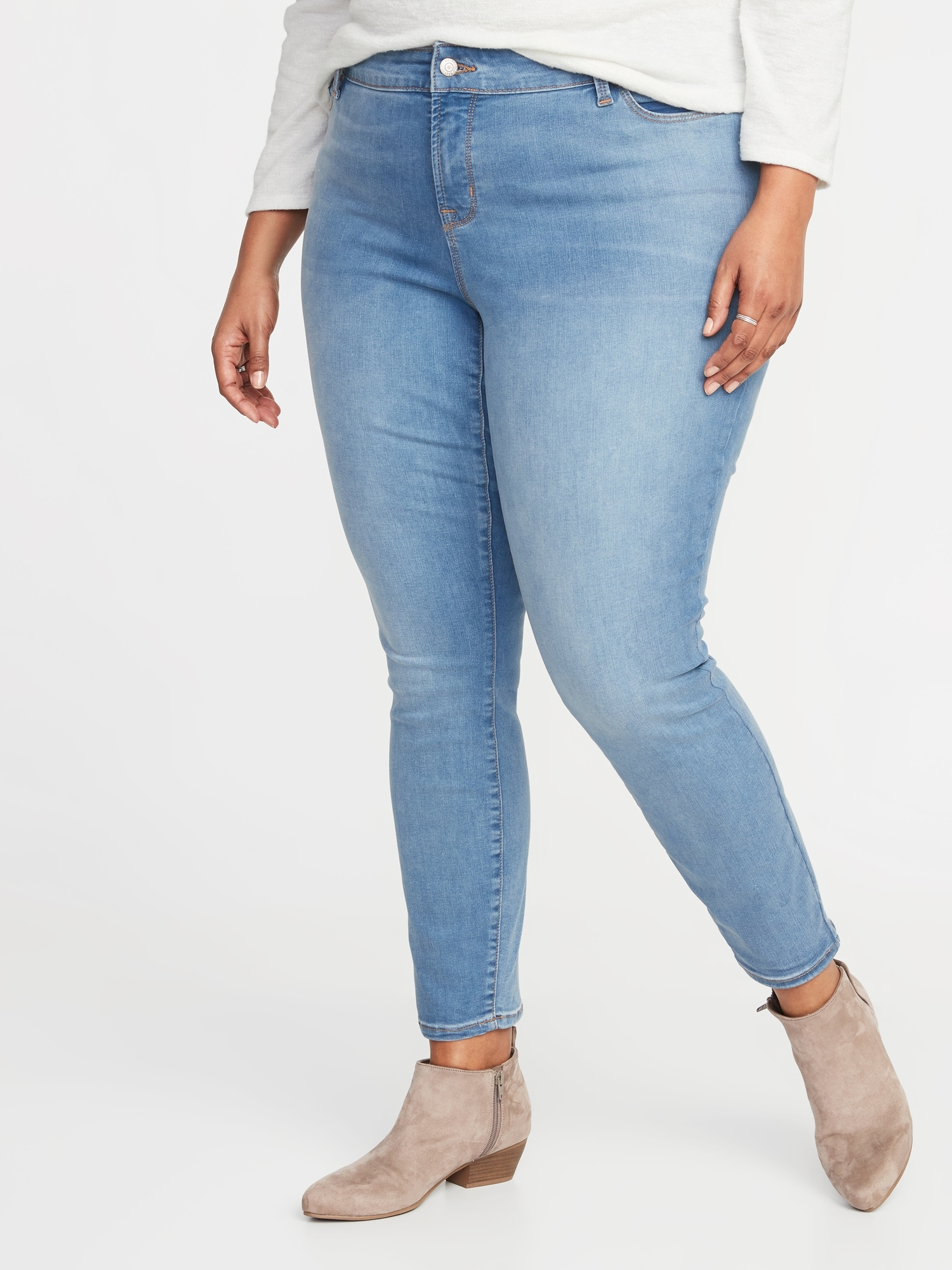 4fd01a4da5cf2 High-Rise Secret-Slim Pockets Rockstar Super Skinny Plus-Size Jeans ...
