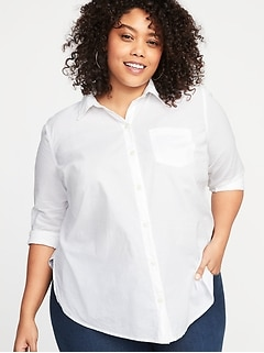 Clean-Slate No-Peek Plus-Size Classic Shirt