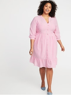 Jersey Elbow-Sleeve Plus-Size Swing Dress | Old Navy