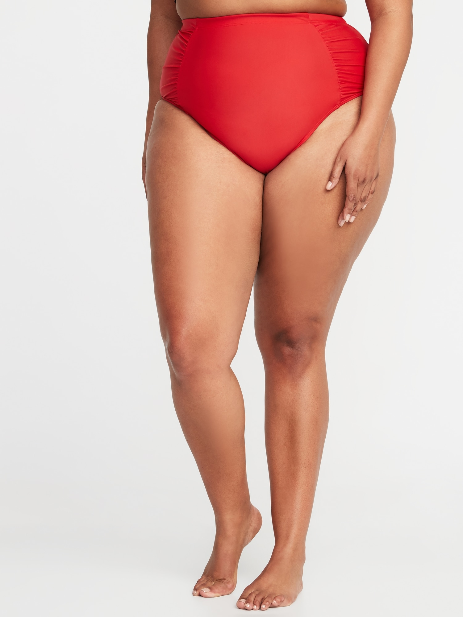 7d1b254980d High-Rise Secret-Slim Plus-Size Swim Bottoms   Old Navy
