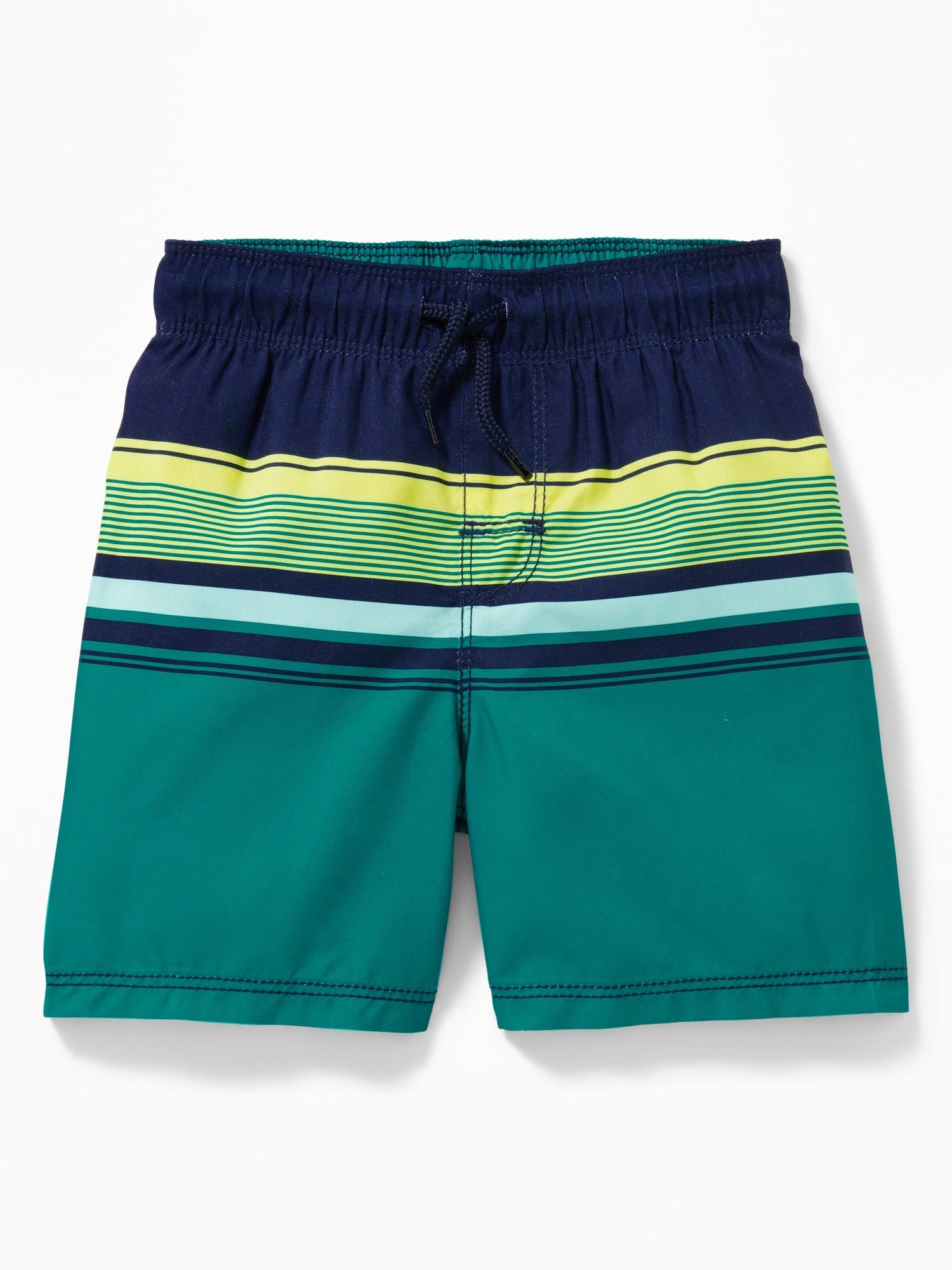 3b06685fe4 Functional Drawstring Multi-Stripe Swim Trunks for Toddler Boys ...
