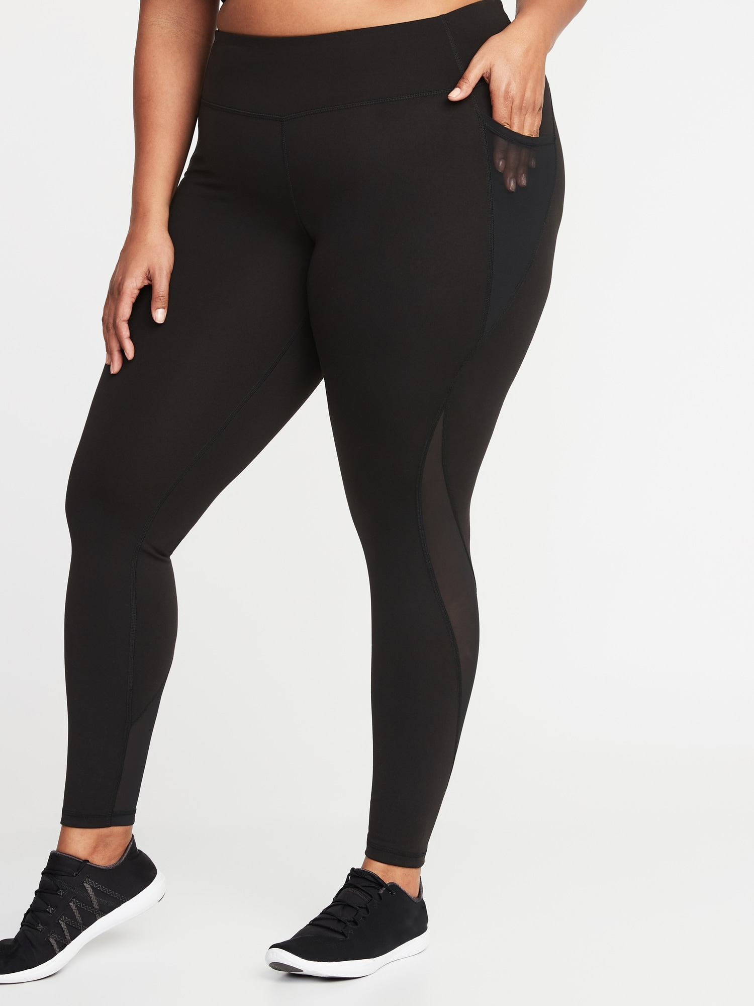 3b987b62afc High-Rise Elevate Side-Pocket Compression Plus-Size Leggings