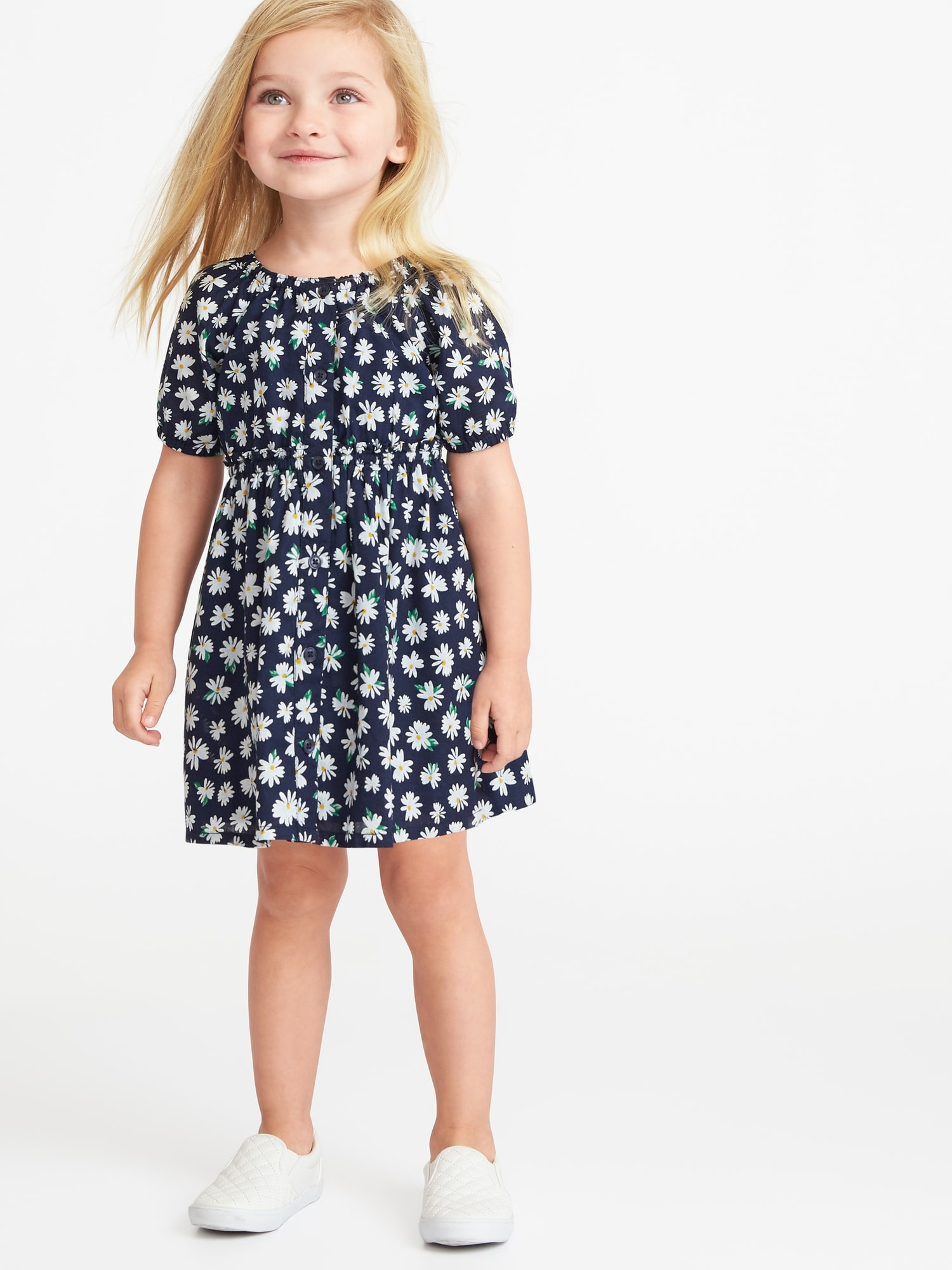 9f6cb519c8a1 Floral-Print Shirt Dress for Toddler Girls | Old Navy