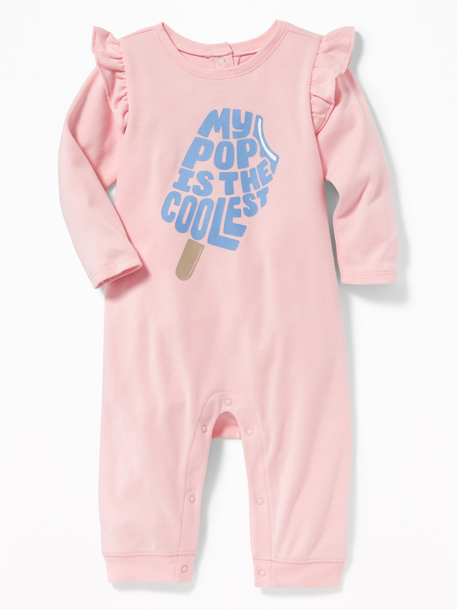 71d1219e5442 Graphic Ruffle-Trim One-Piece for Baby | Old Navy