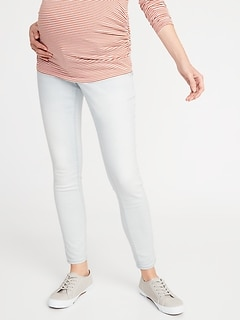 Maternity Premium Full-Panel Rockstar Light-Wash Jeans