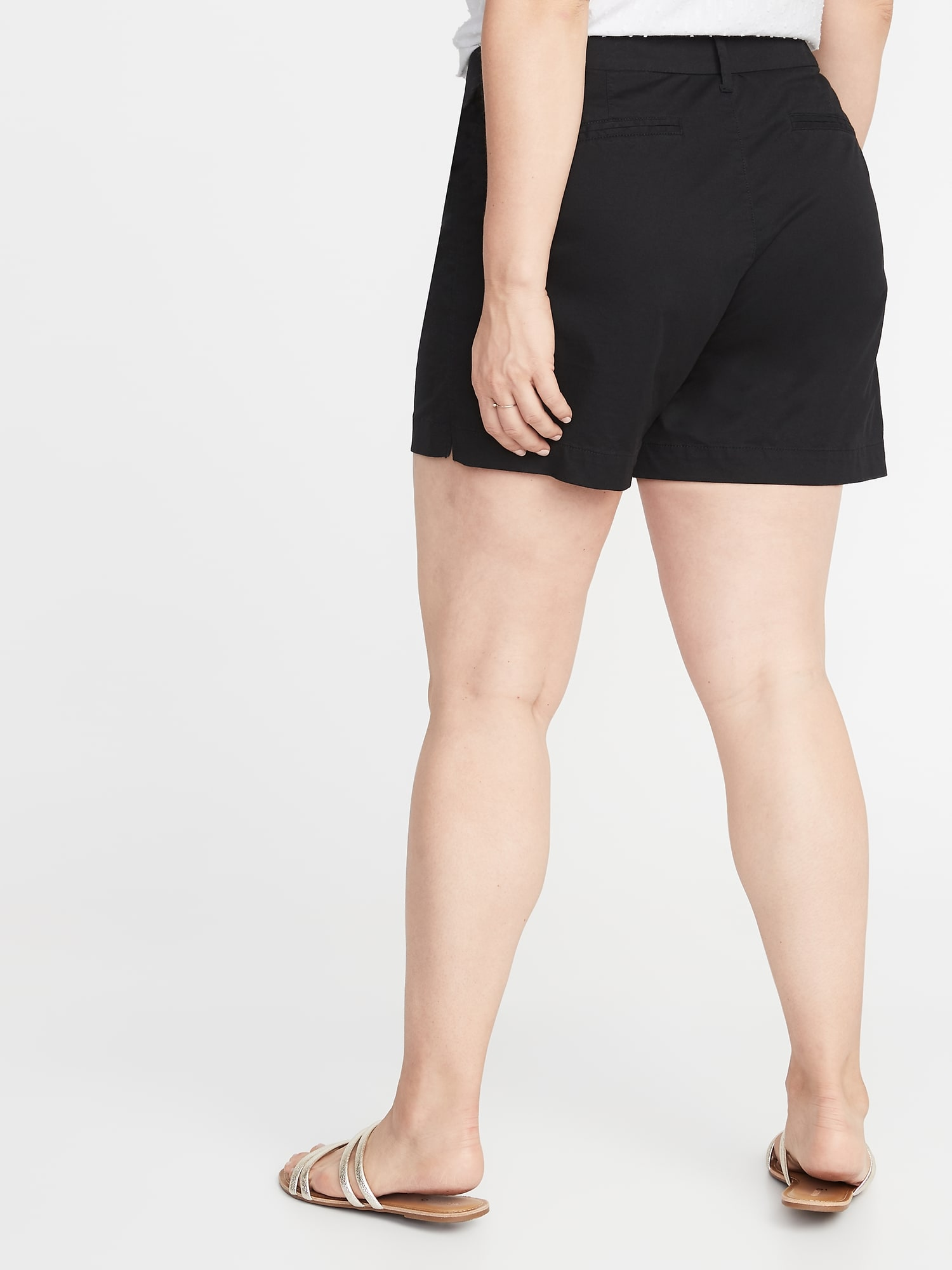 4ba663e640 Mid-Rise Plus-Size Everyday Twill Shorts - 5 Inch Inseam | Old Navy