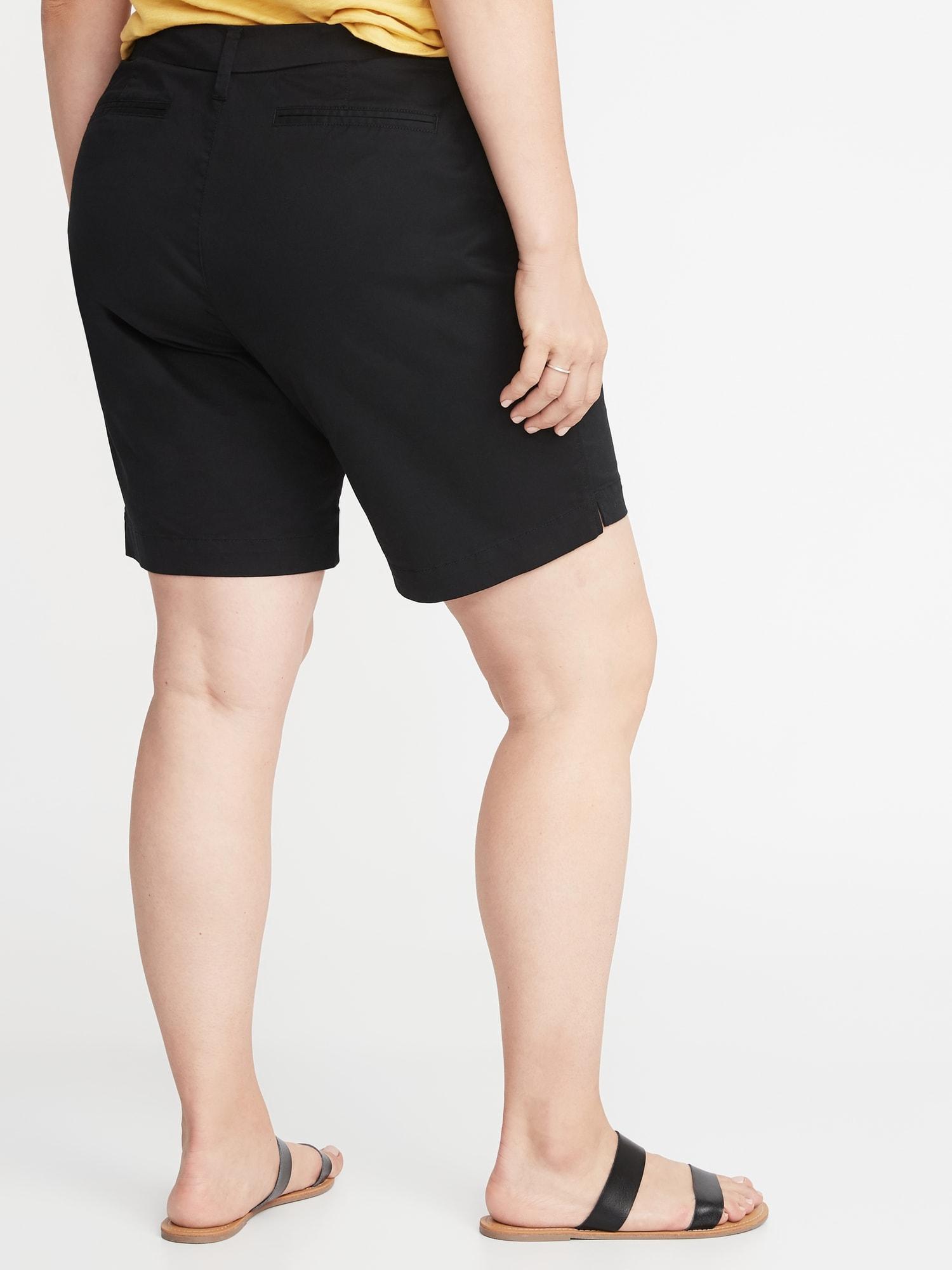 b7107def731 Mid-Rise Everyday Twill Plus-Size Shorts - 9-inch inseam
